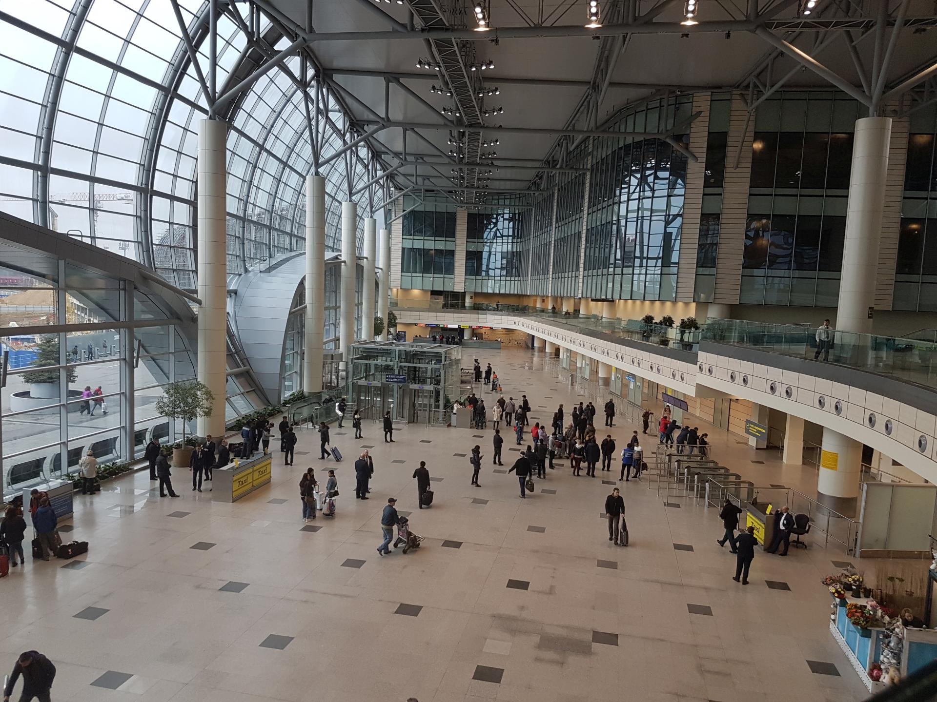 Аэропорт Домодедово внутри
