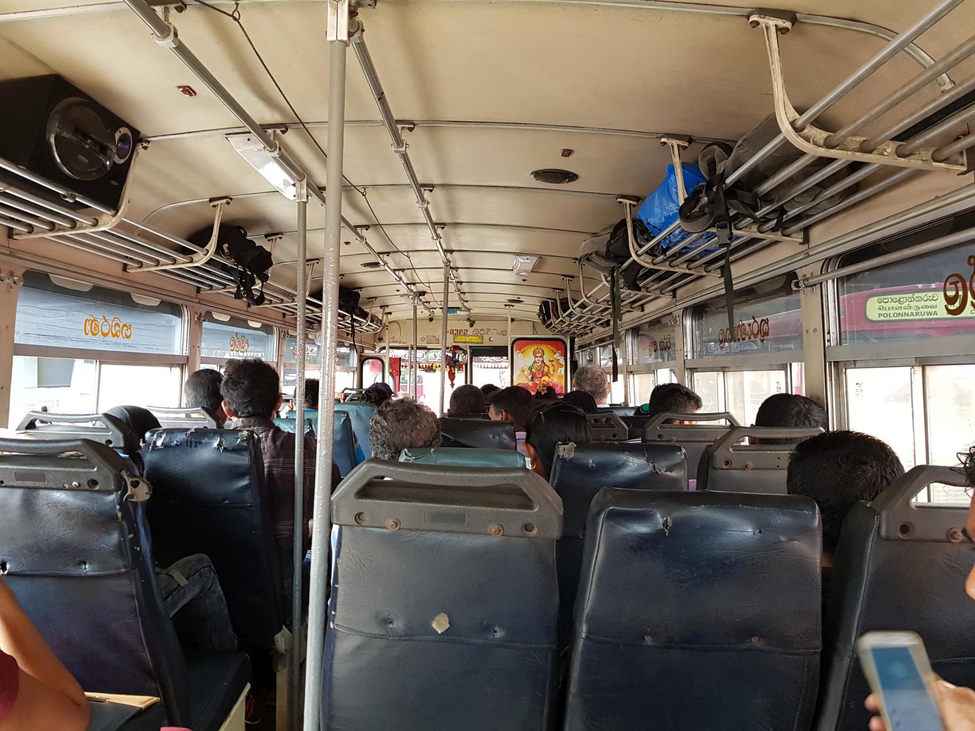 Интерьер автобуса, Шри-Ланка