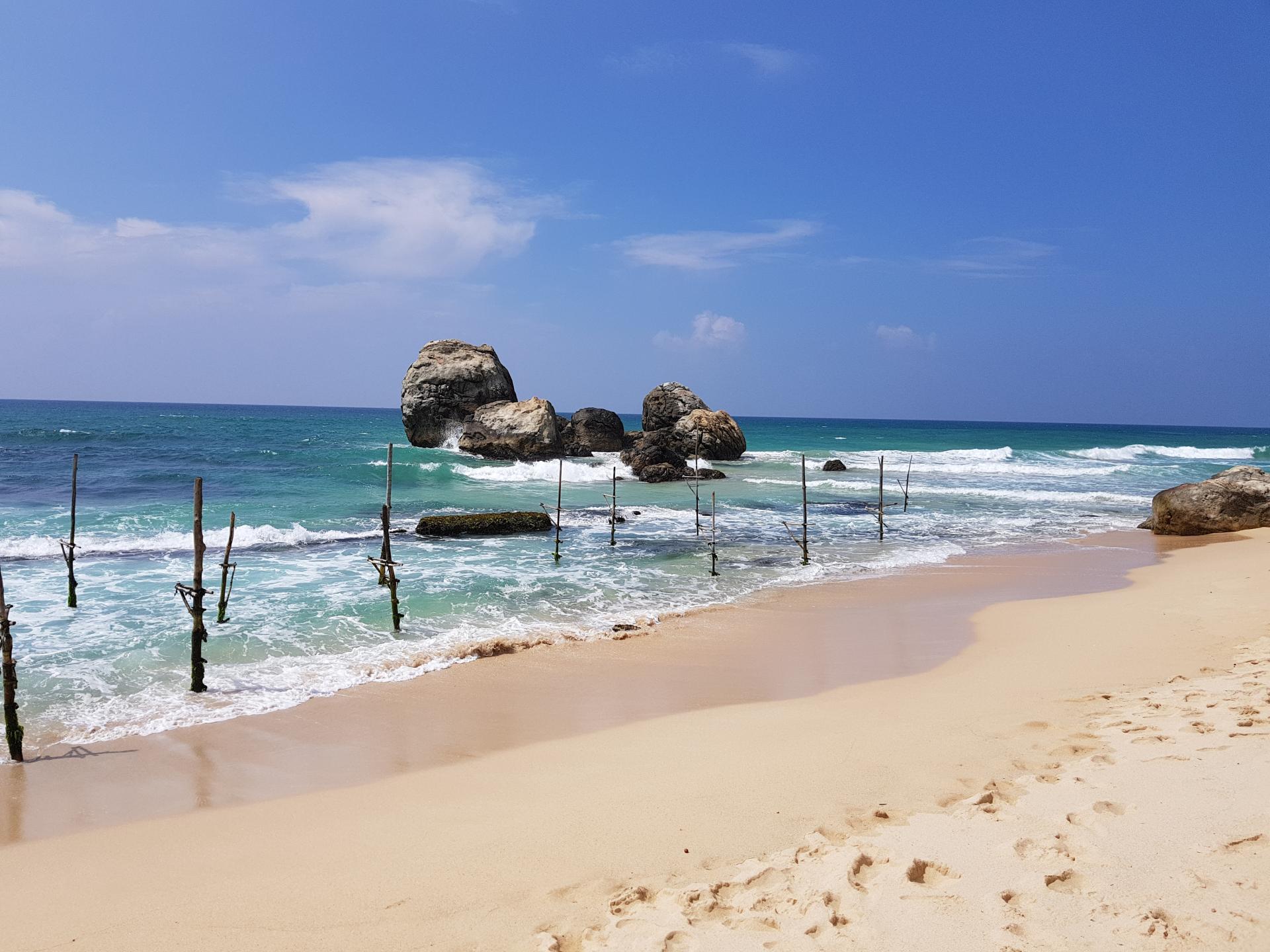 Шесты рыбаков, Шри-Ланка