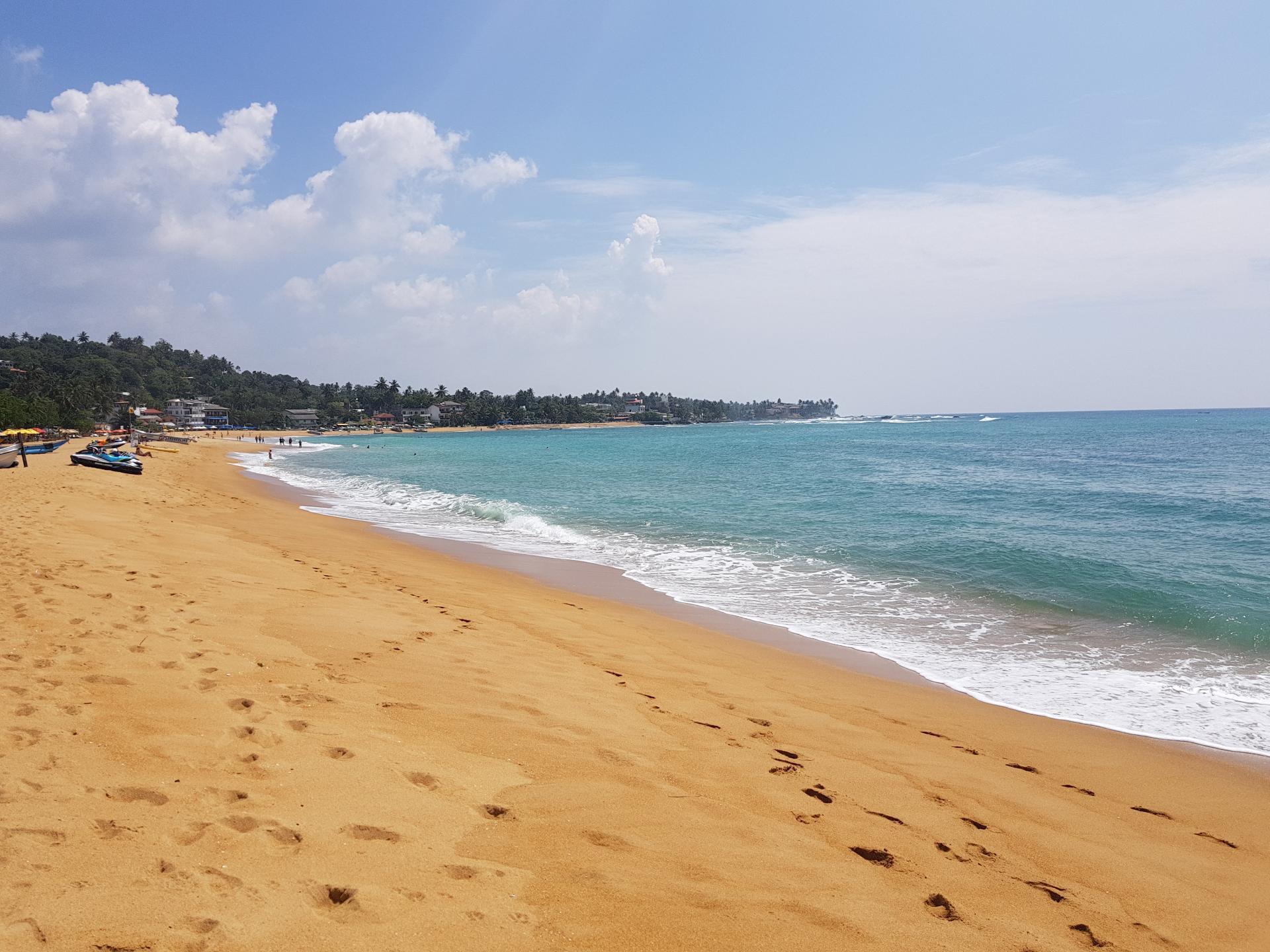 песчаный пляж, Унаватуна, Шри-Ланка