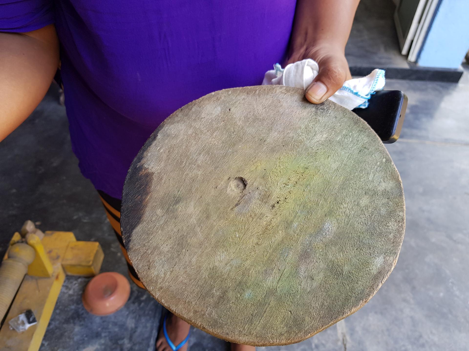 деревянный круг для шлифовки камней