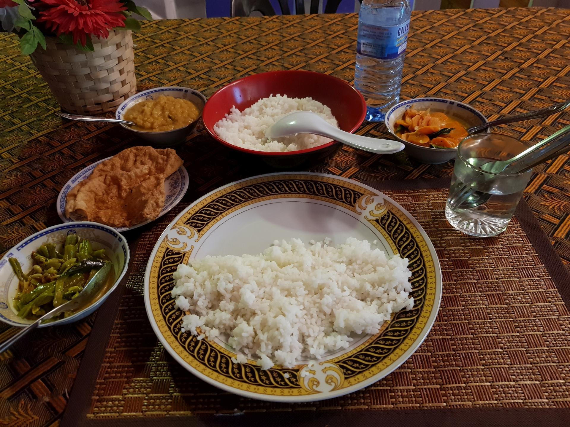 Обед на Шри-Ланке