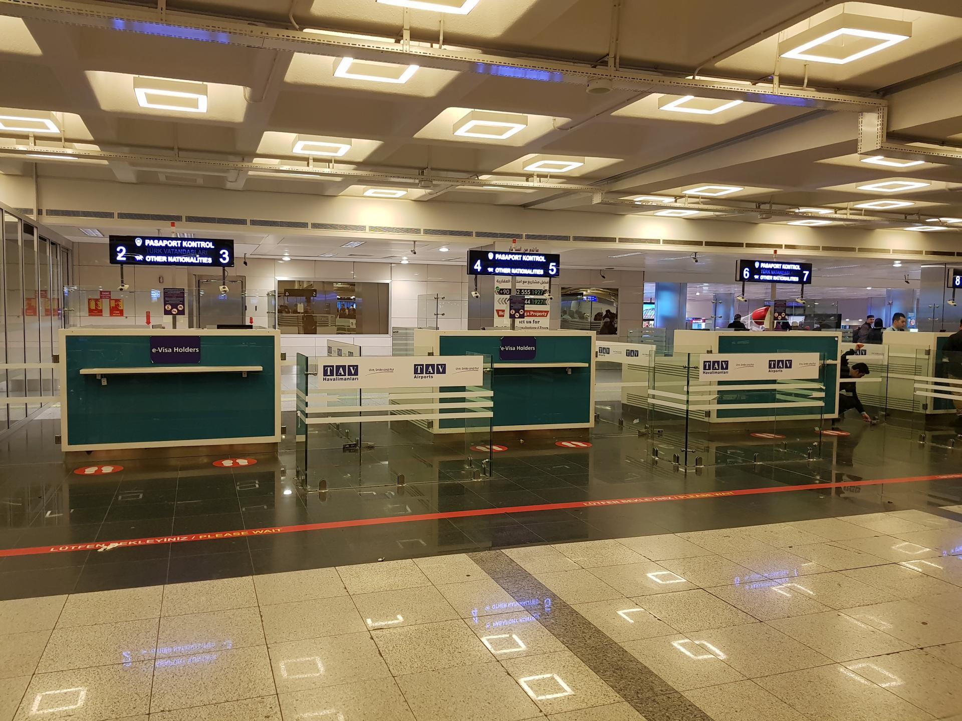 Паспортный контроль, Стамбул