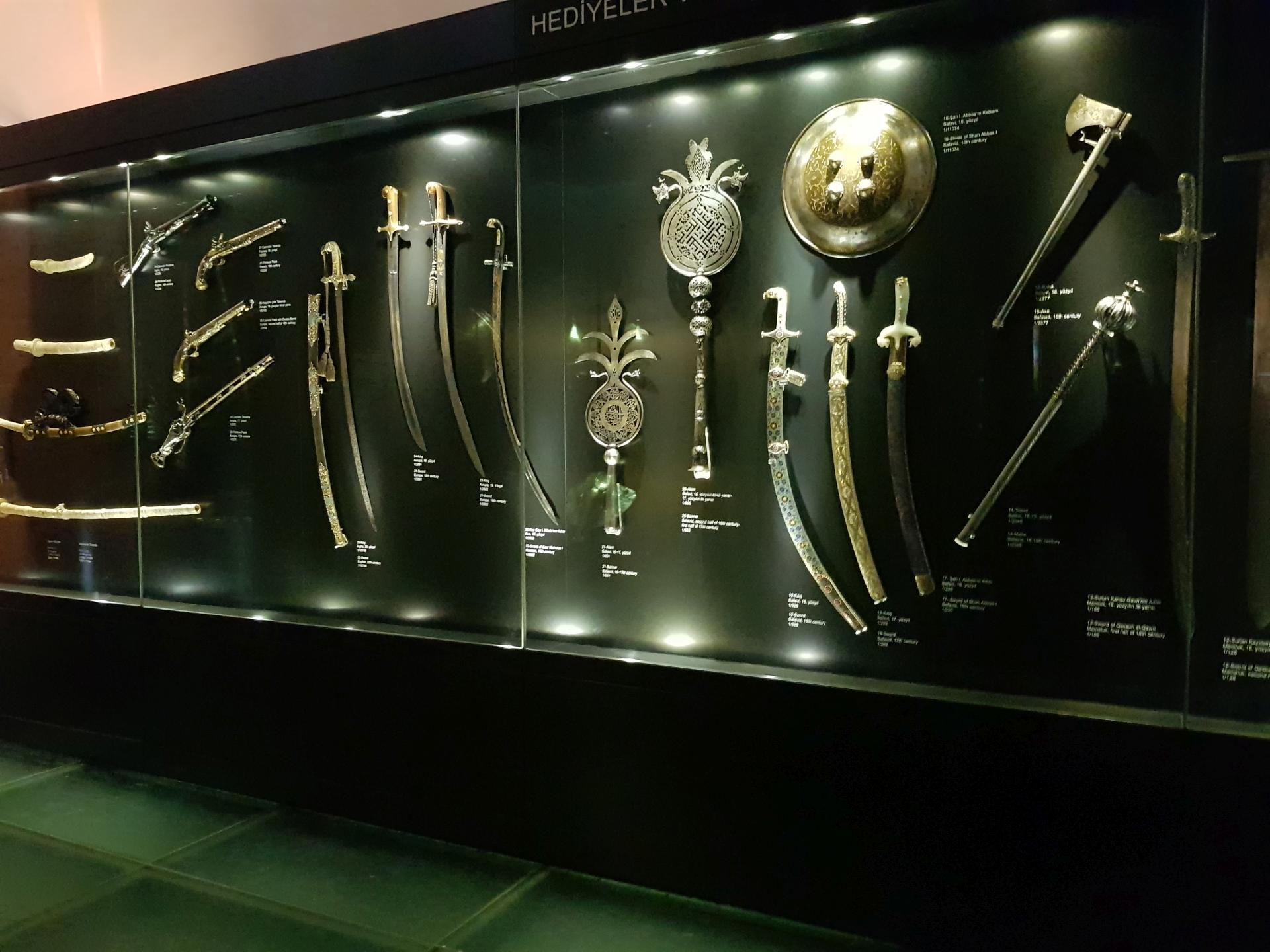 Оружейные экспонаты Дворца Топкапы