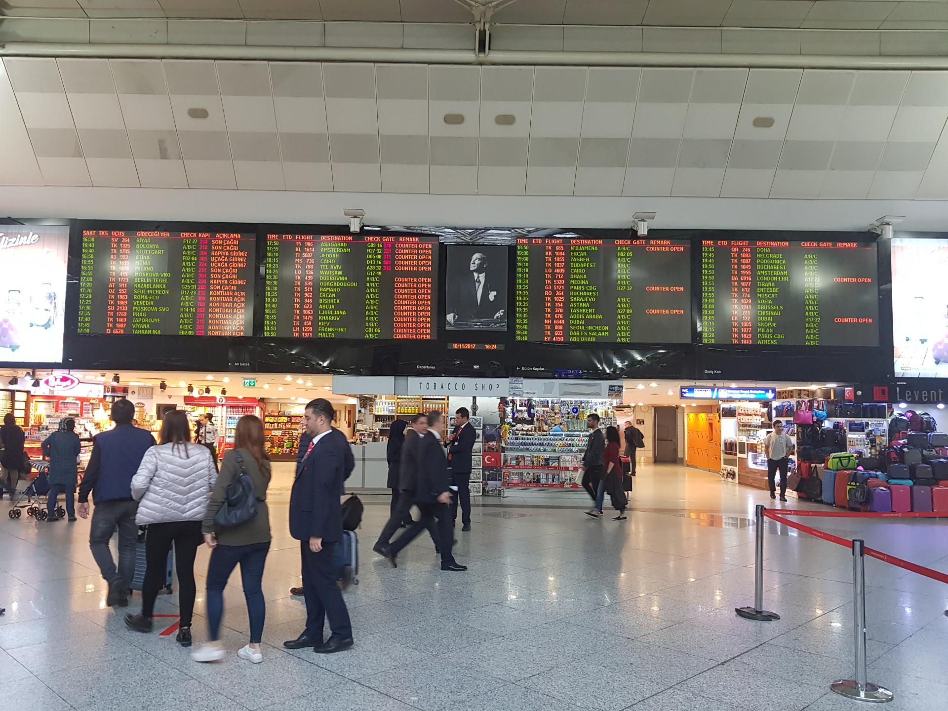 Центральное табло, аэропорт Ататюрк