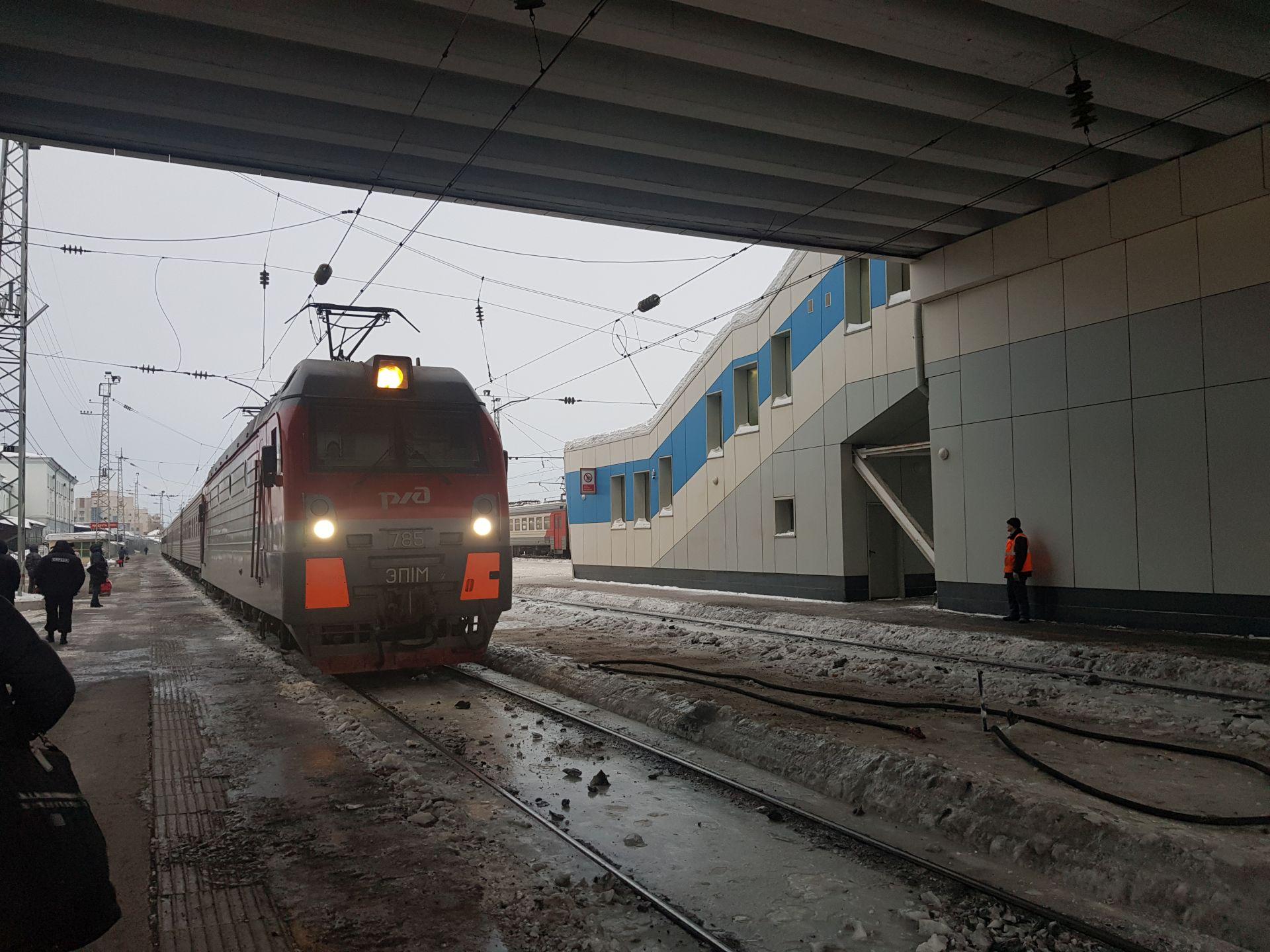 прибытие поезда на вокзал