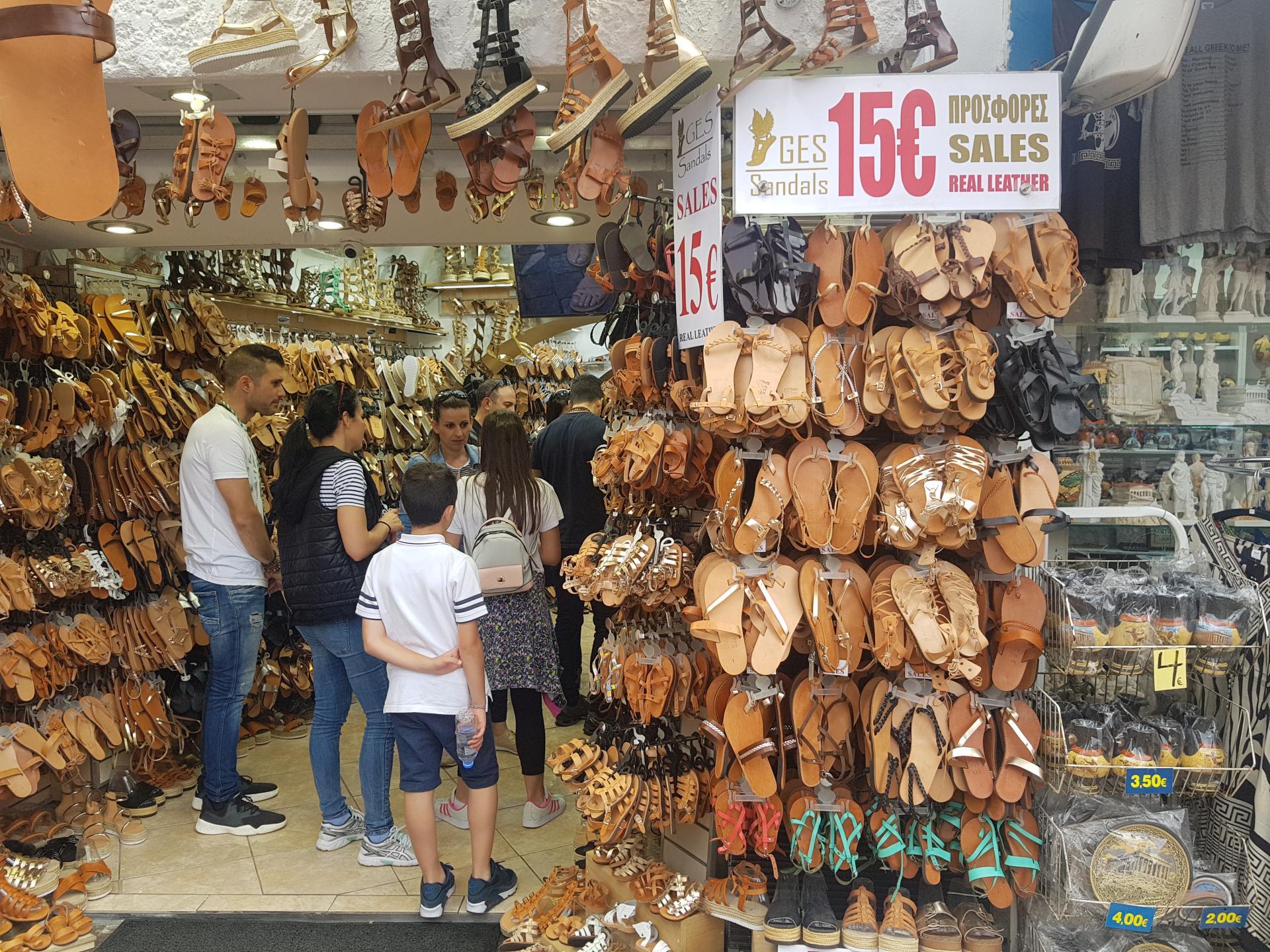 Обувная лавка в Афинах