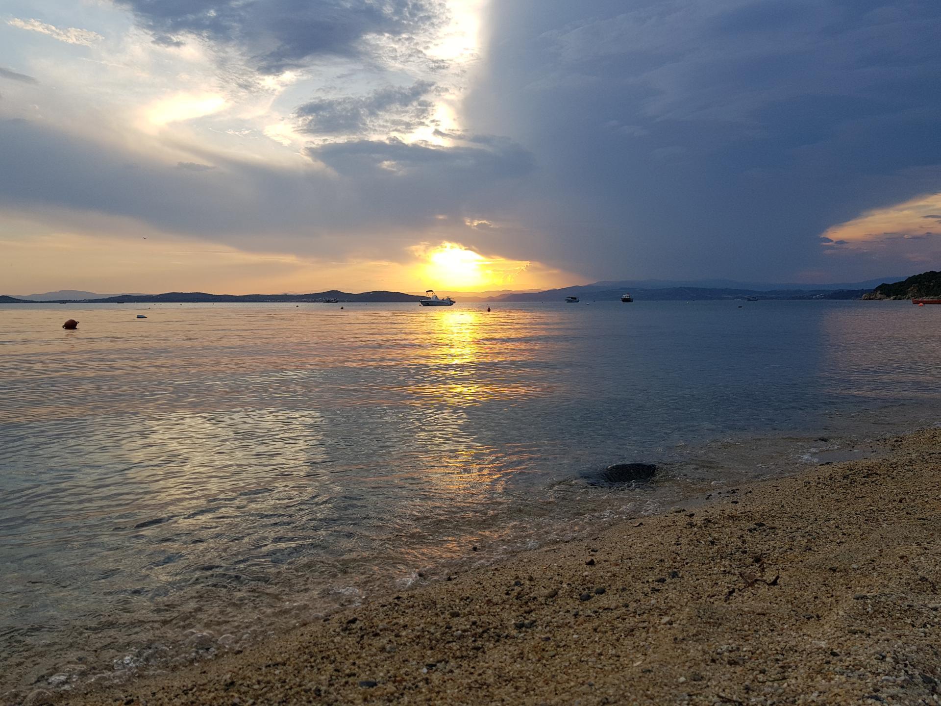 Закат в Уранополисе