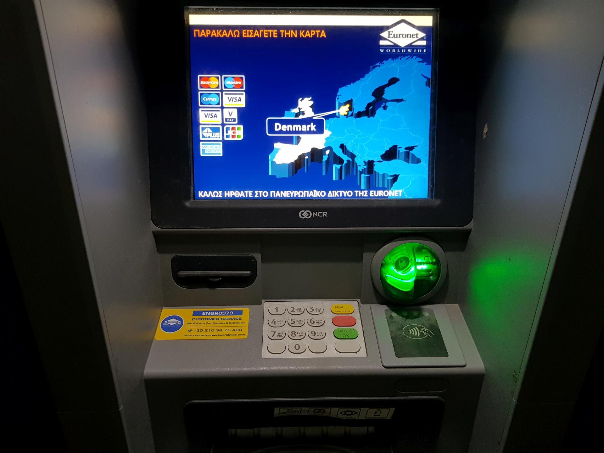 банкомат в Греции