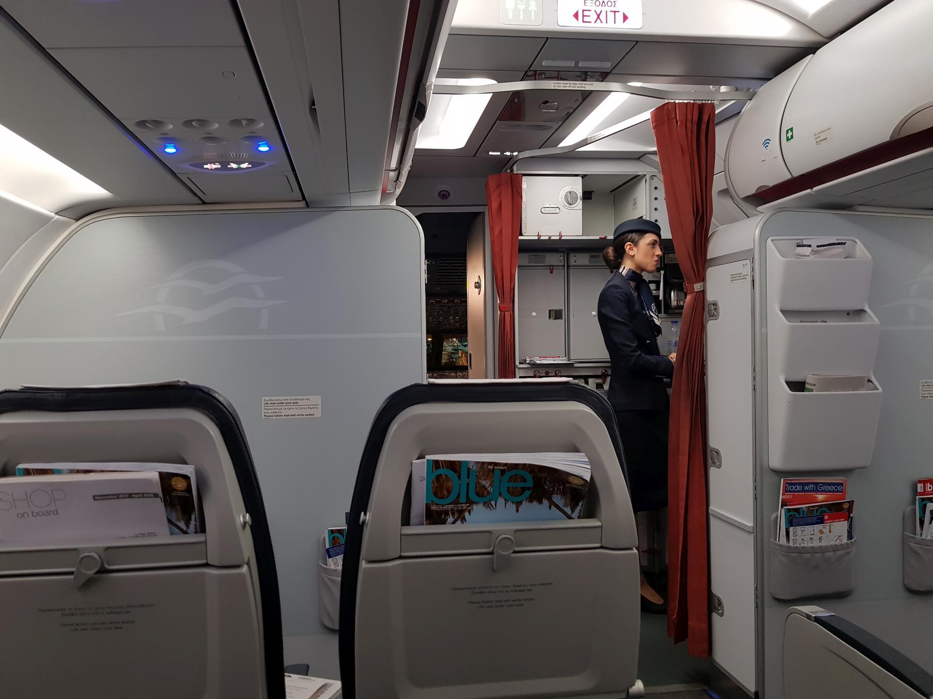 в салоне Airbus A320