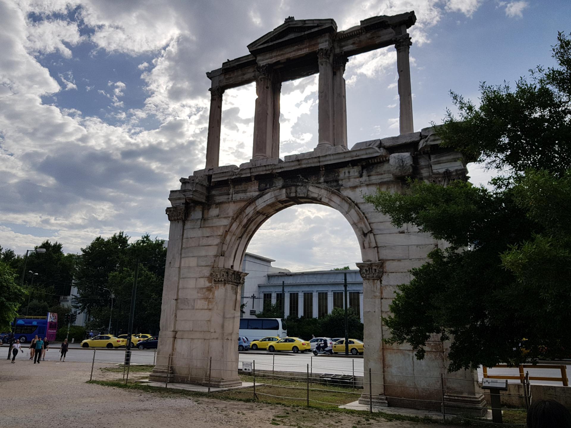 античные развалины, Афины