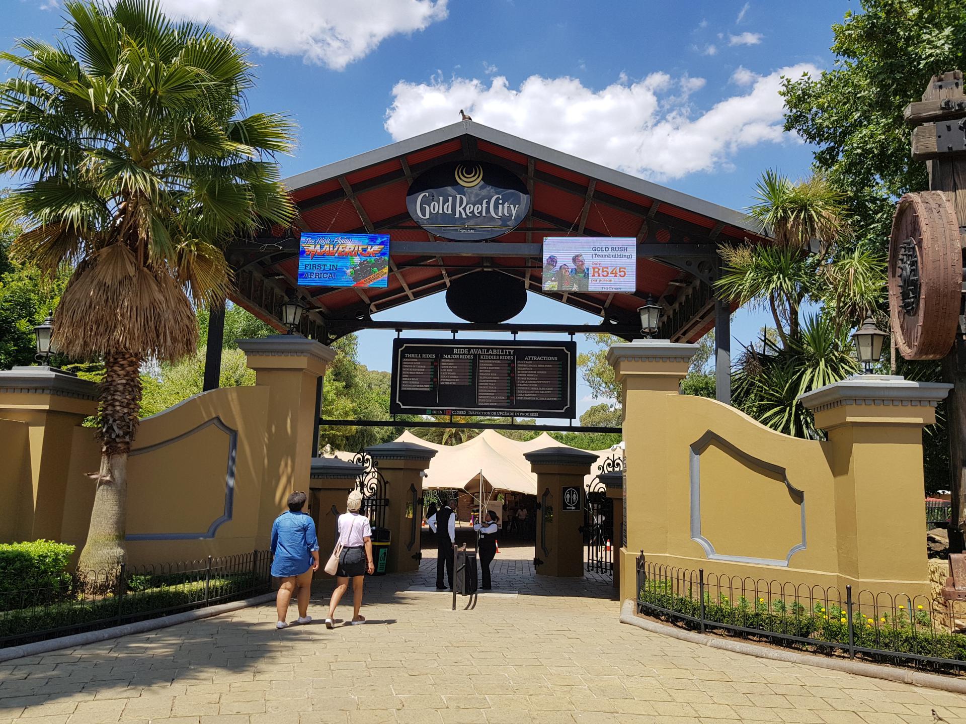 ворота в развлекательный парк Gold Reef City