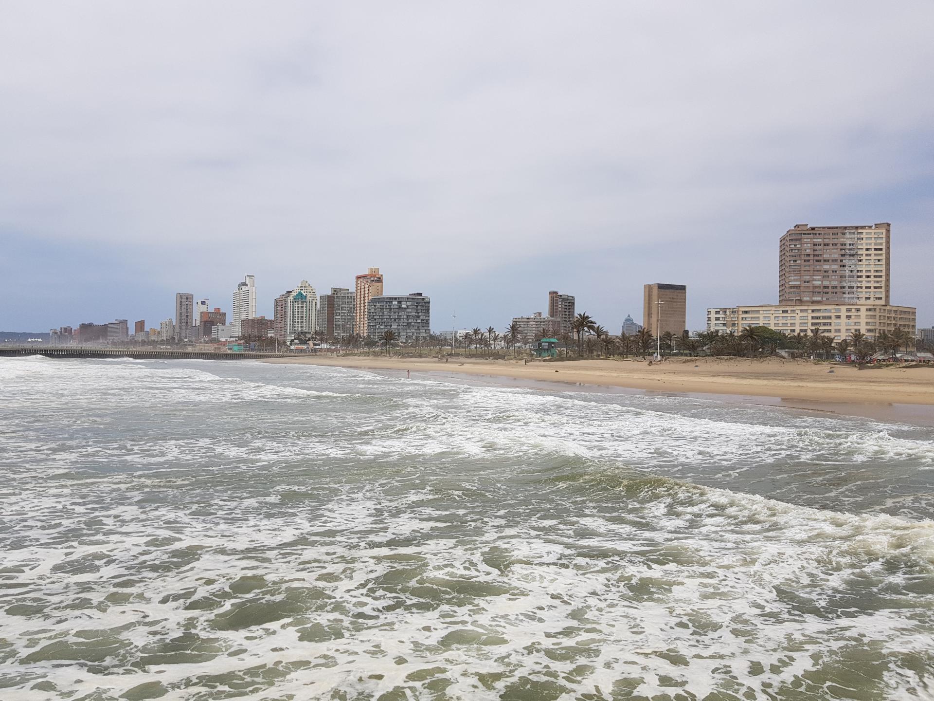 Вид на Дурбан с морского пирса