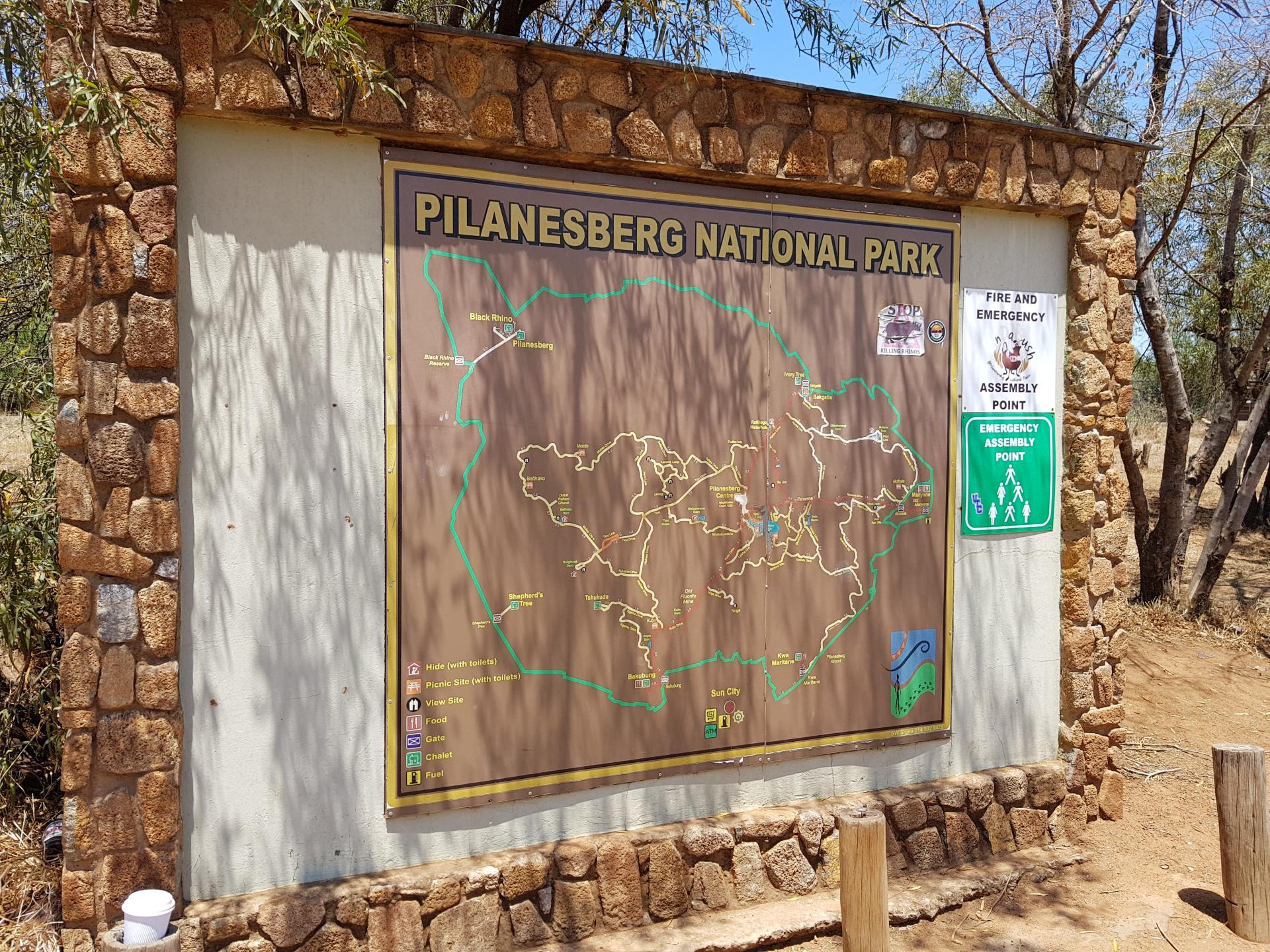 стенд с информацией парк Пиланесберг