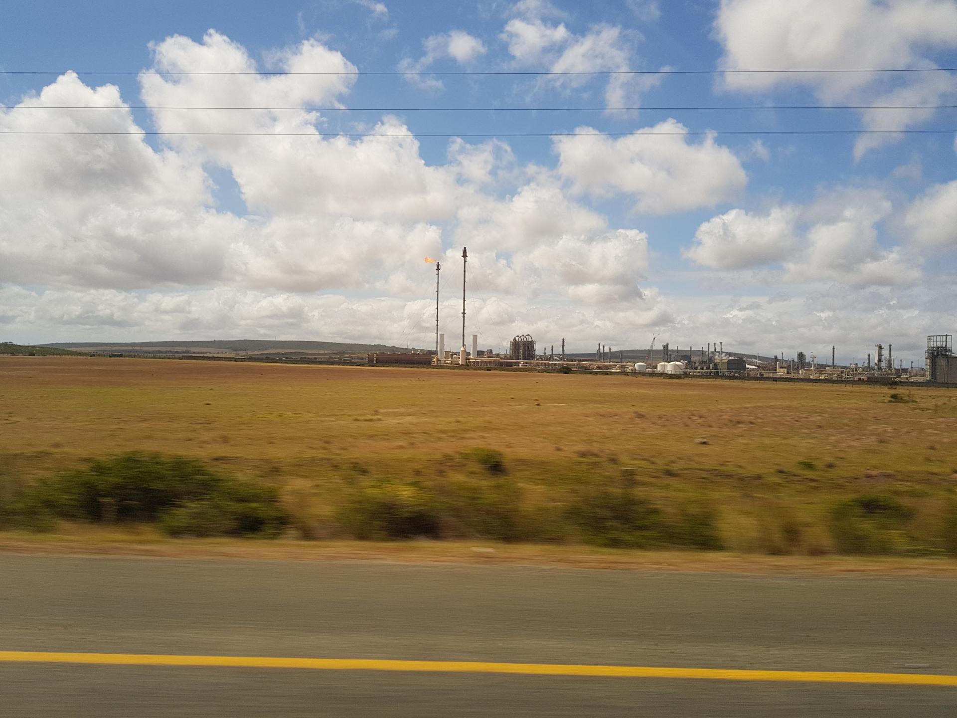 газовый факел в ЮАР