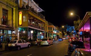 улицы Кейптауна ночью