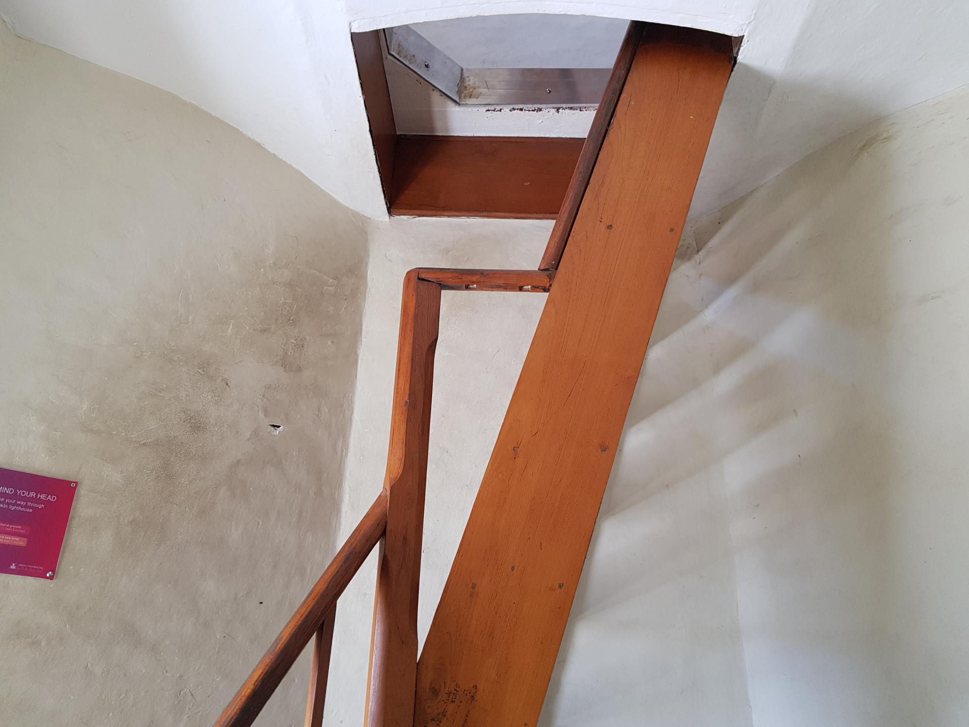 лестница внутри маяка Donkin Reserve