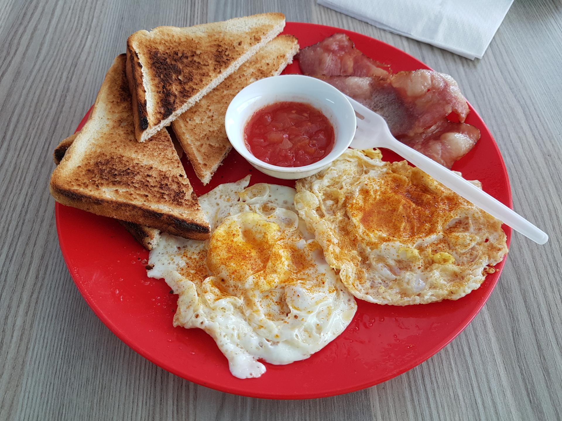 английский завтрак в Порт-Элизабет