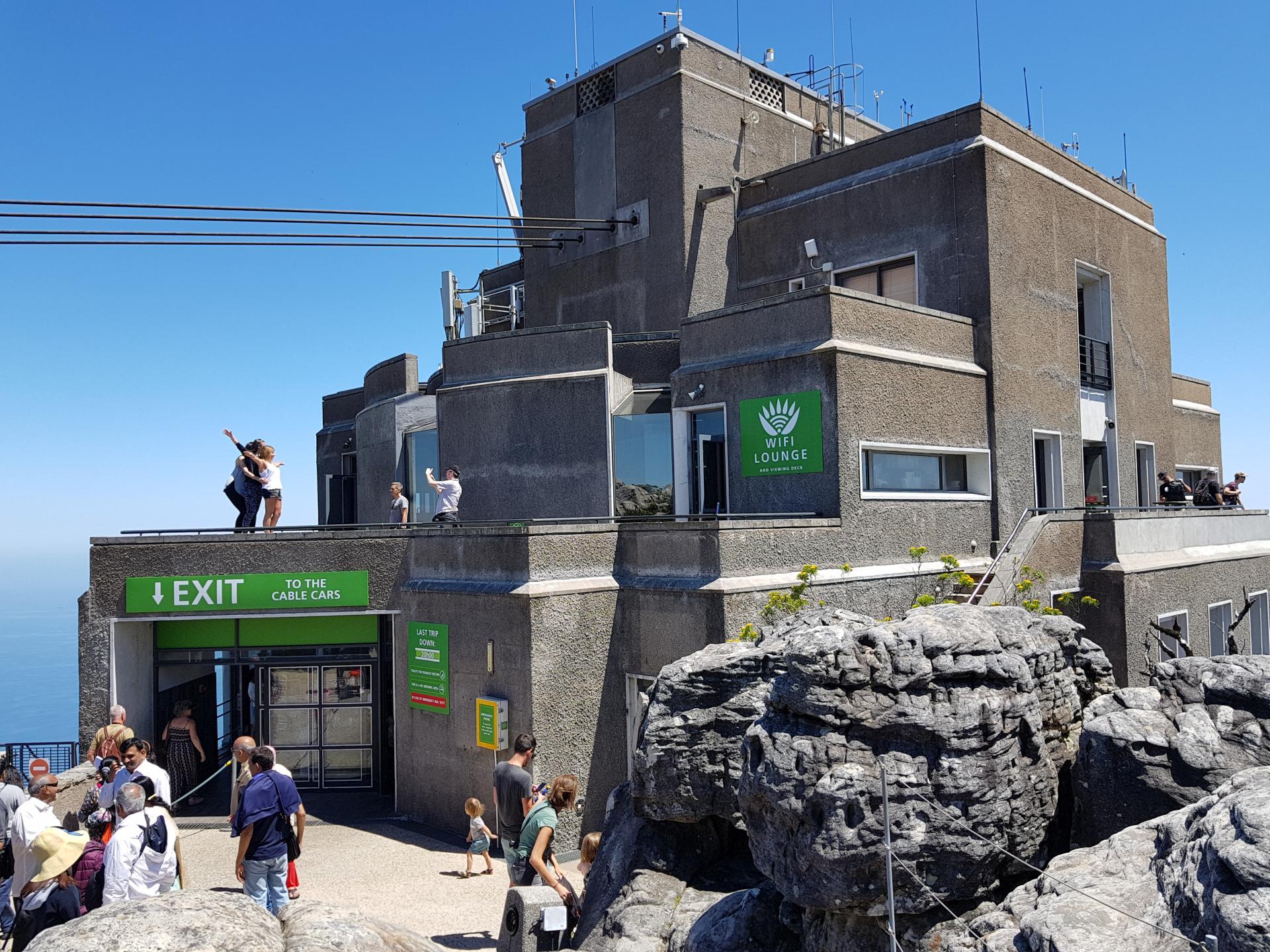 станция фуникулера на вершине Столовой горы, Кейптаун