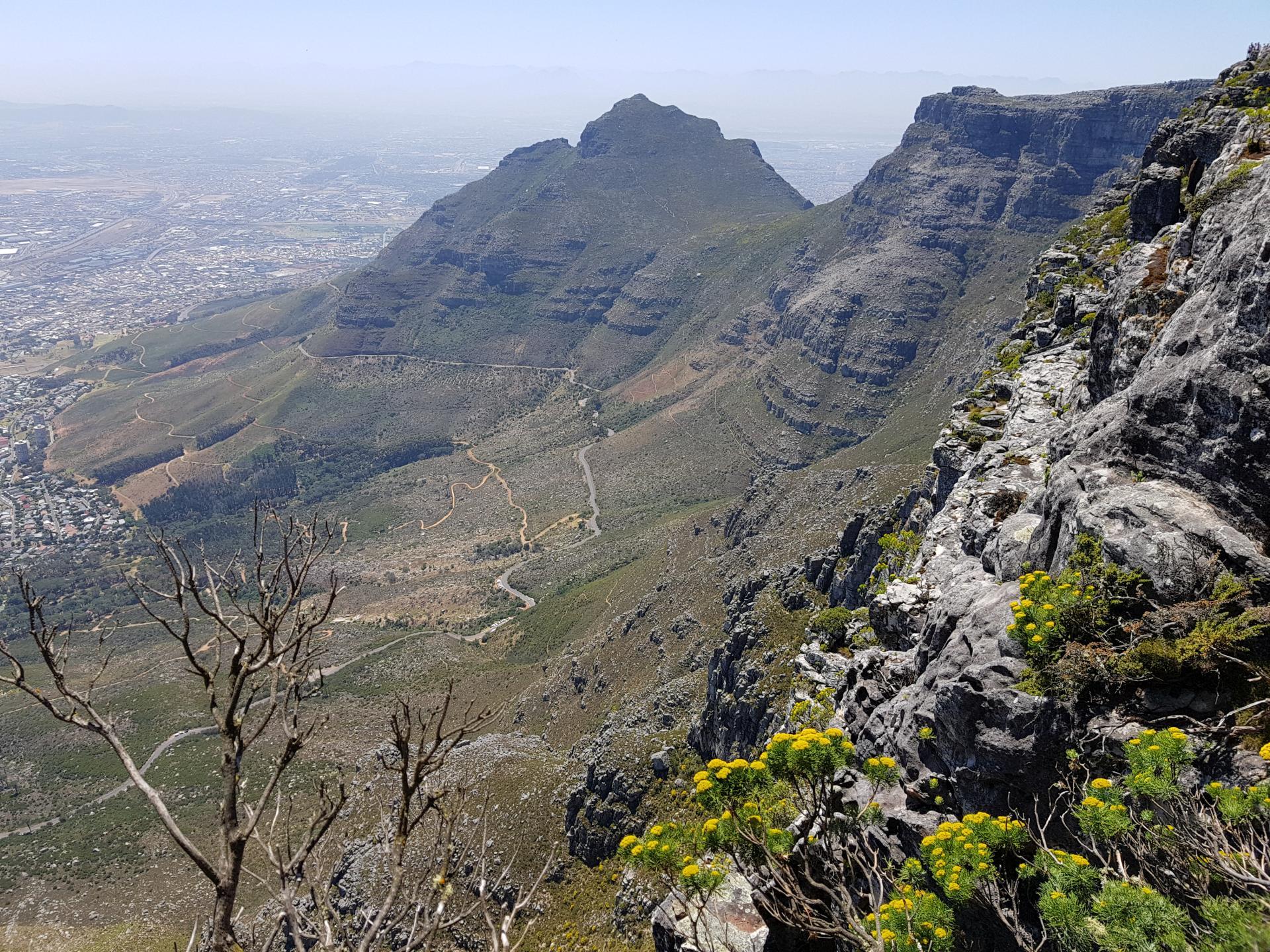 дороги с высоты Столовой горы, Кейптаун