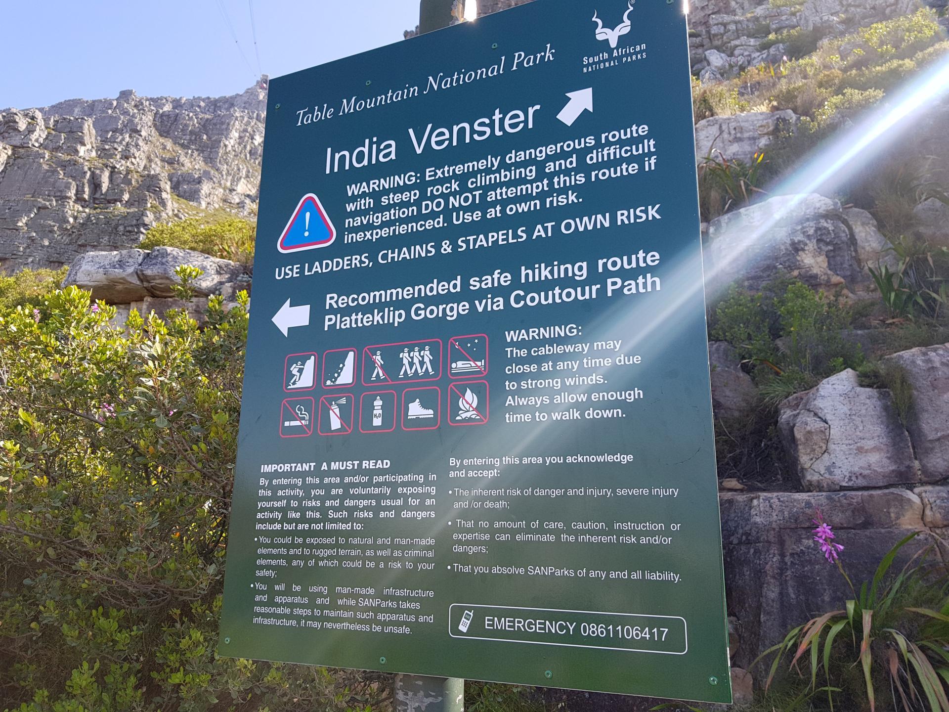 Стенд Индийской тропы у Столовой горы, Кейптаун