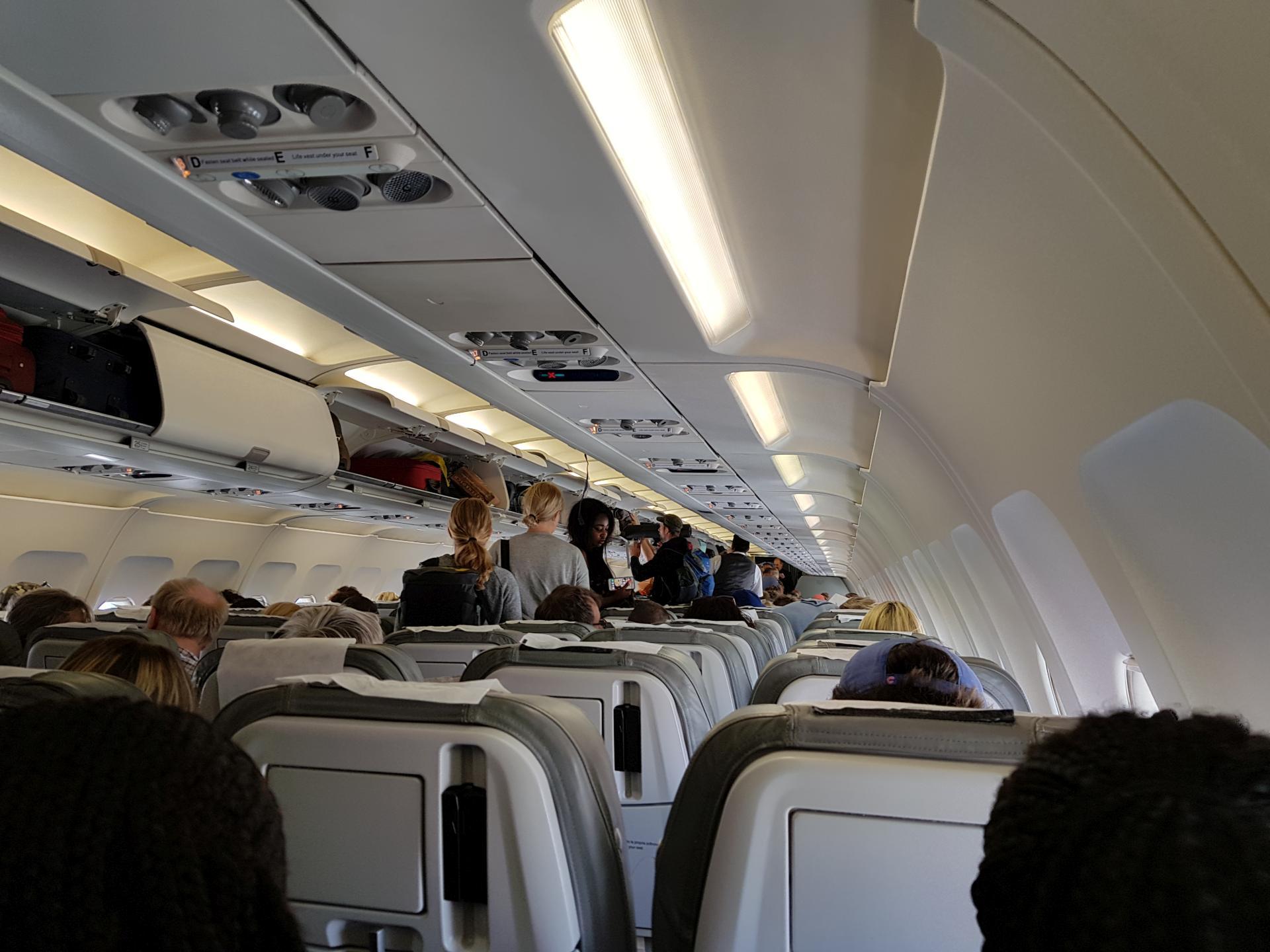 внутри салона Airbus-A321