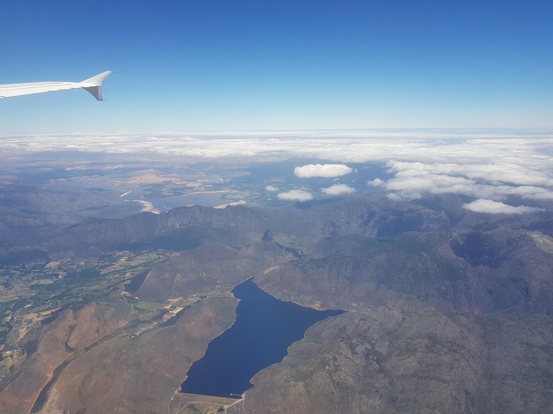 полет над Африкой на самолете