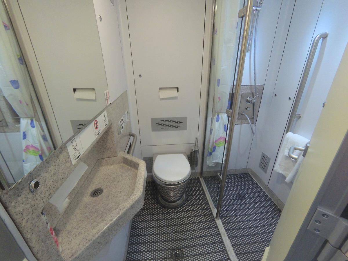 Туалет с душем в новых вагонах РЖД