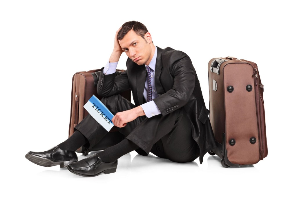 устал с багажом