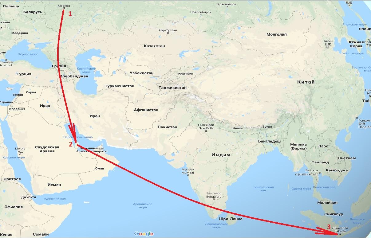 Путь Россия - Индонезия