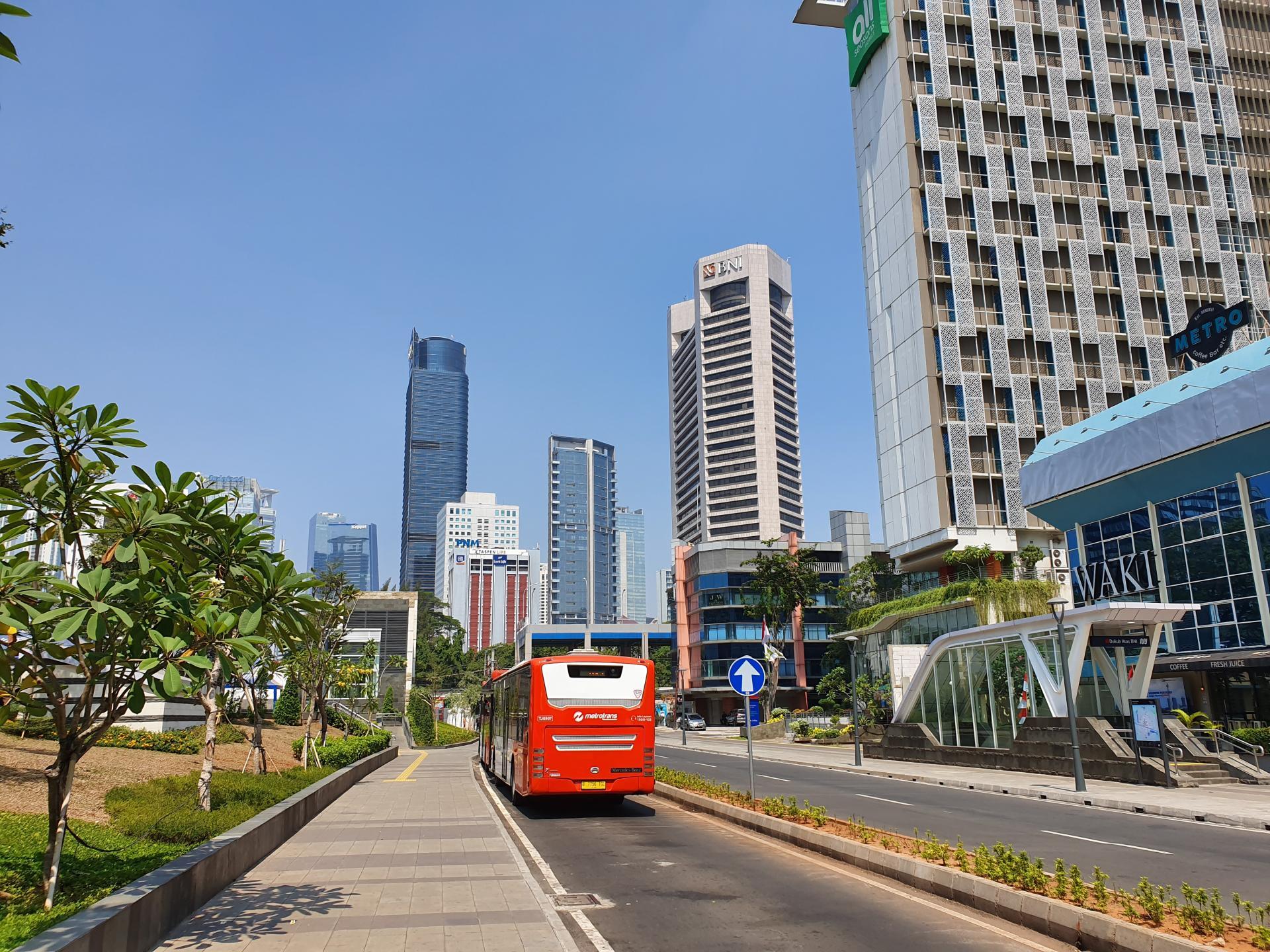 Район Thamrin в Джакарте