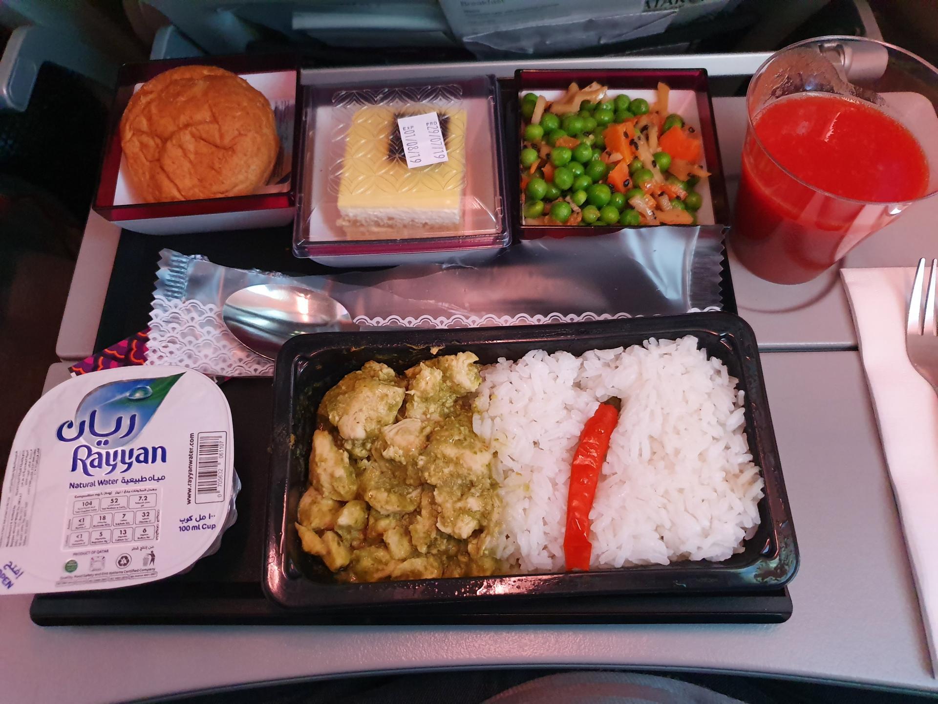 бортовое питание Qatar Airways