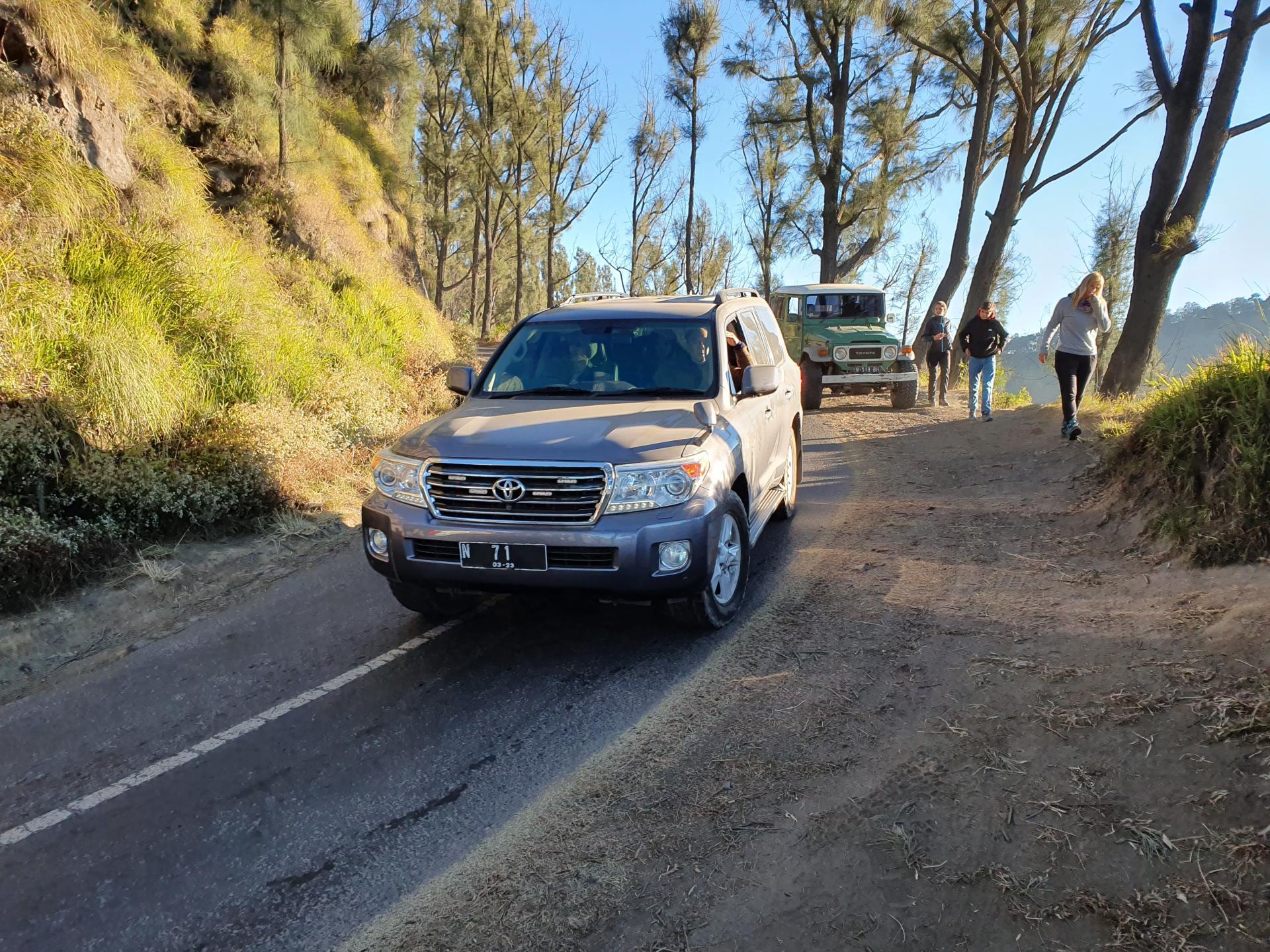 горная дорога к вулкану Бромо