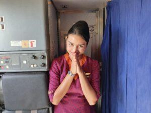 красивая азиатская стюардесса