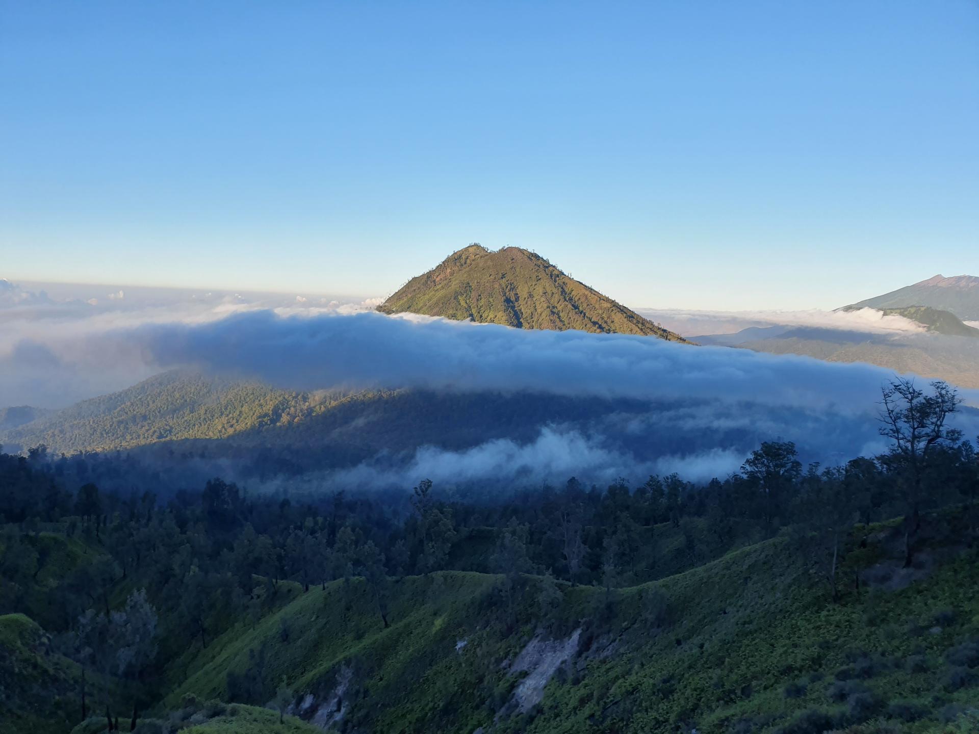 вид с вулкана Иджен