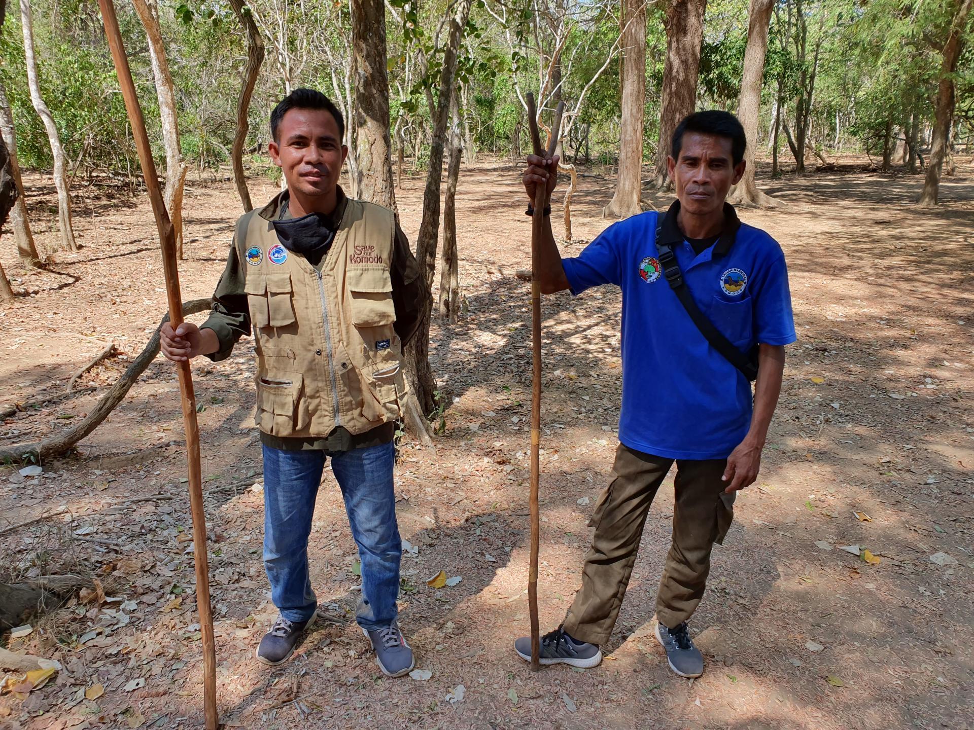 рейнджеры в национальном парке Комодо
