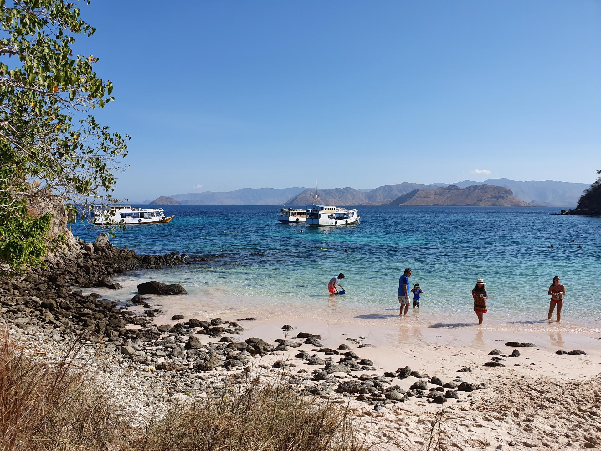 розовый пляж на острове Пинк Бич