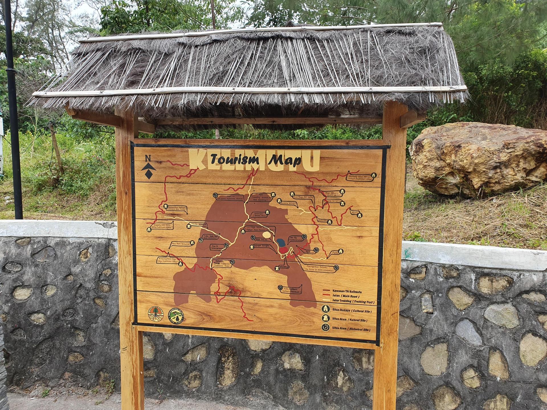 карта национального парка Келимуту
