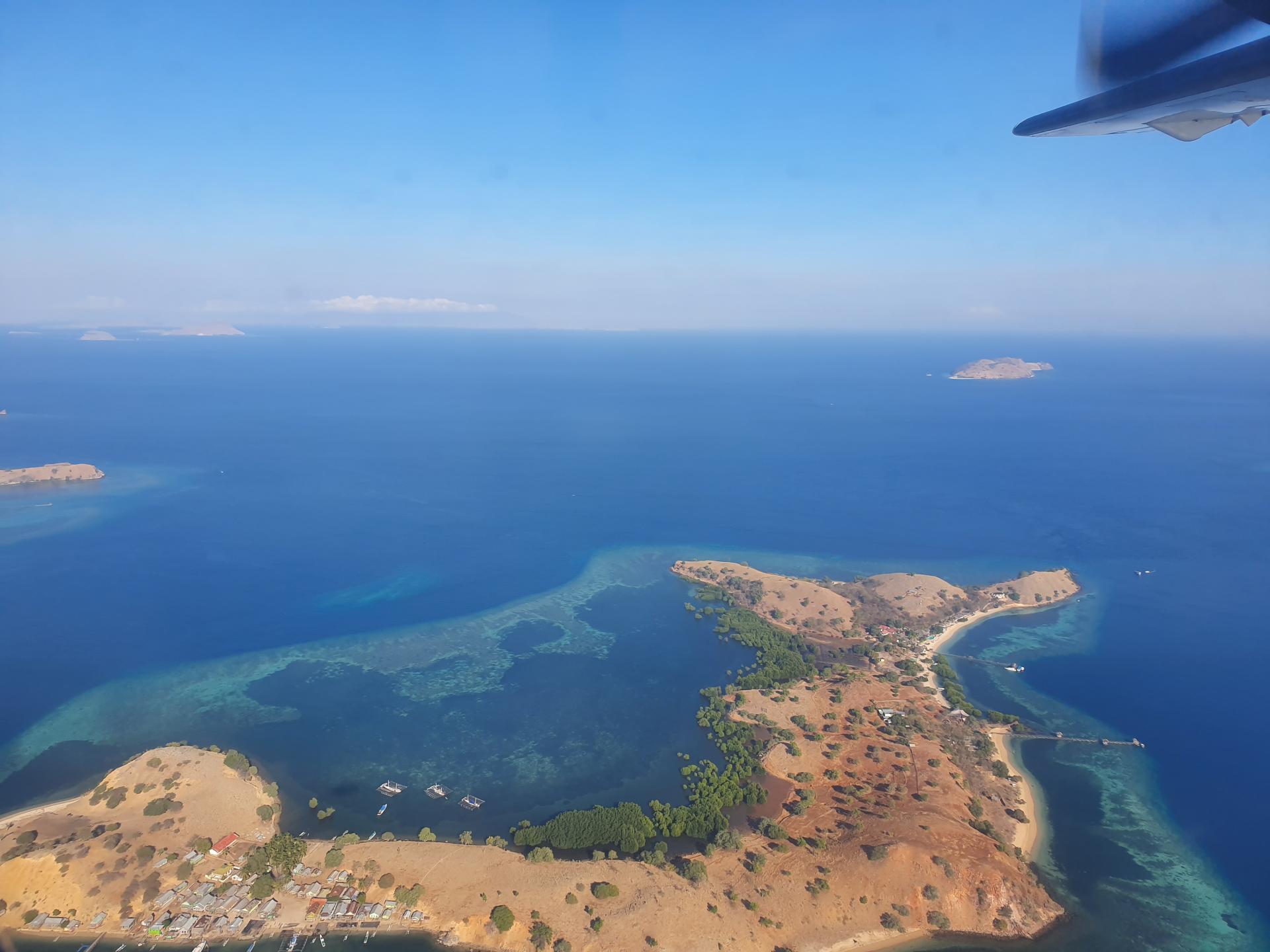 острова Индонезии с высоты птичьего полета