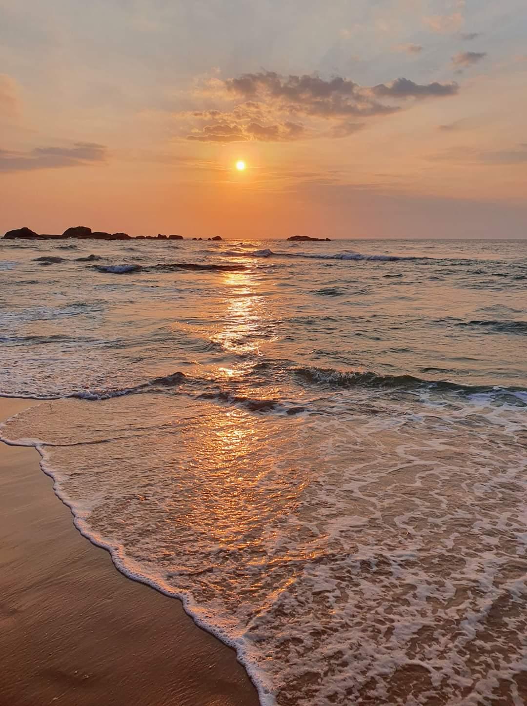 пляж на закате, Шри-Ланка