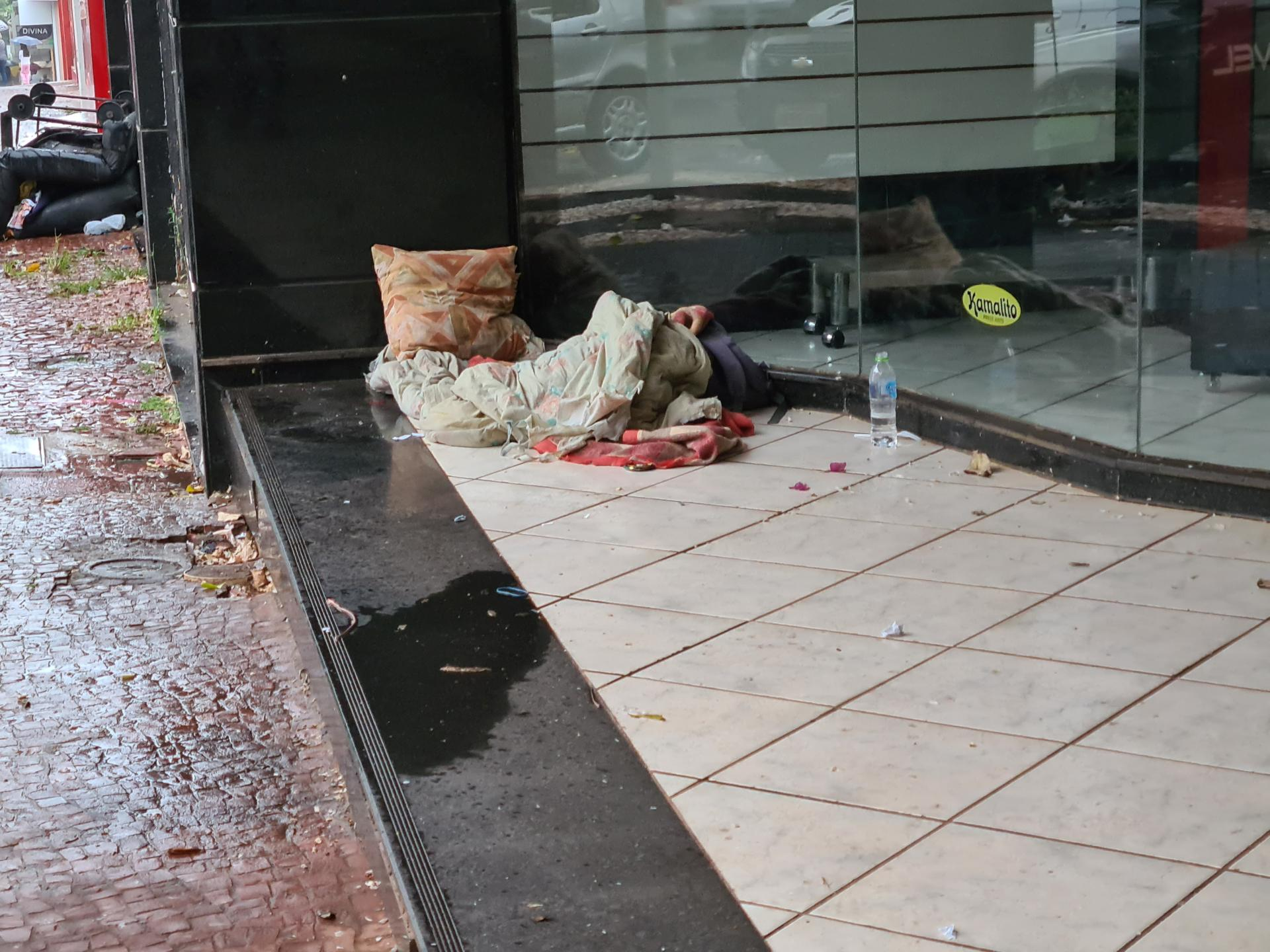 лежанка бомжа в Бразилии