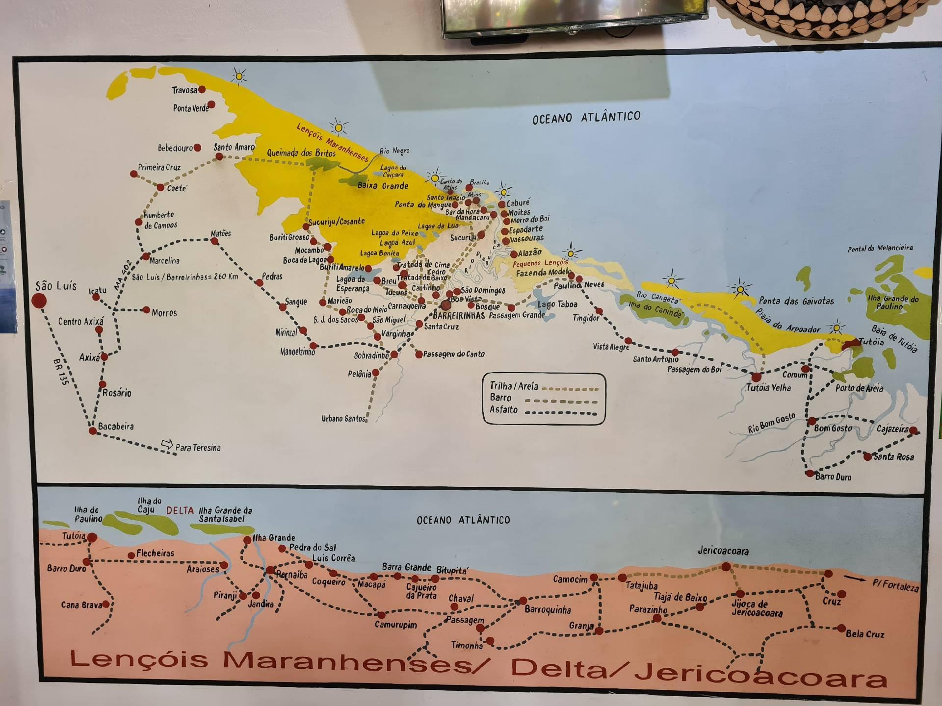 схема парка Ленсойс-Марраньенсис