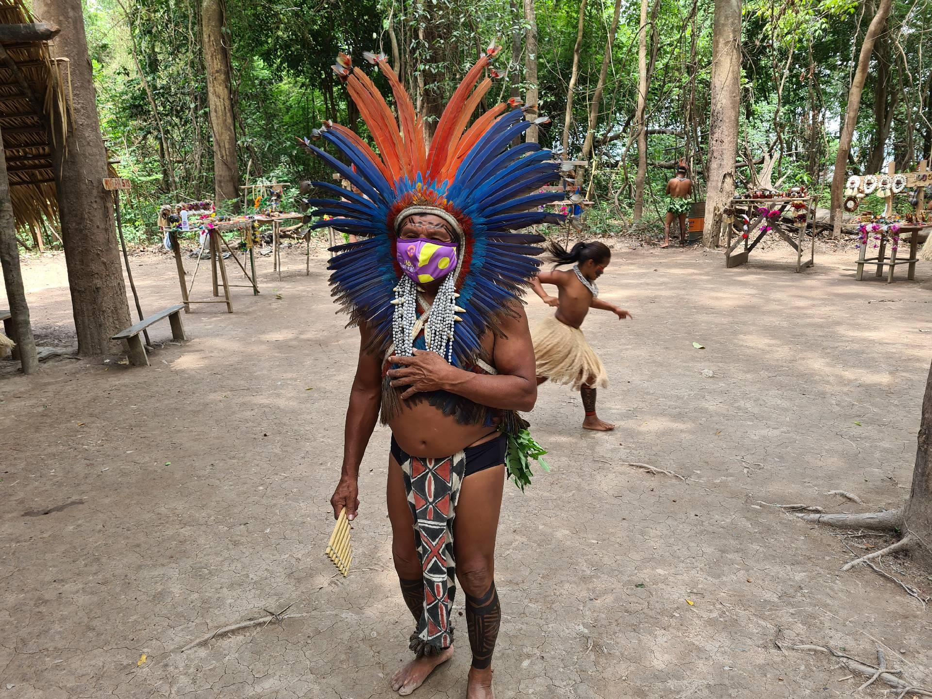 вождь племени индейцев в Южной Америке