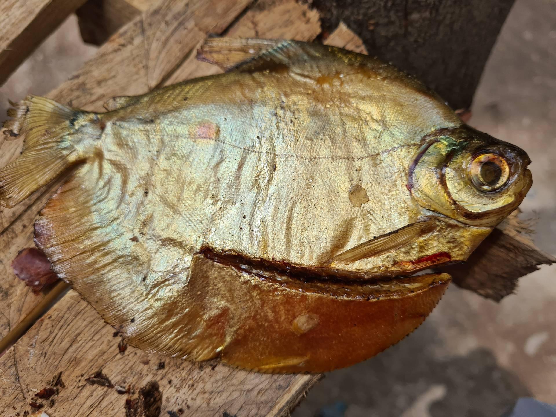 жареная плоская рыба