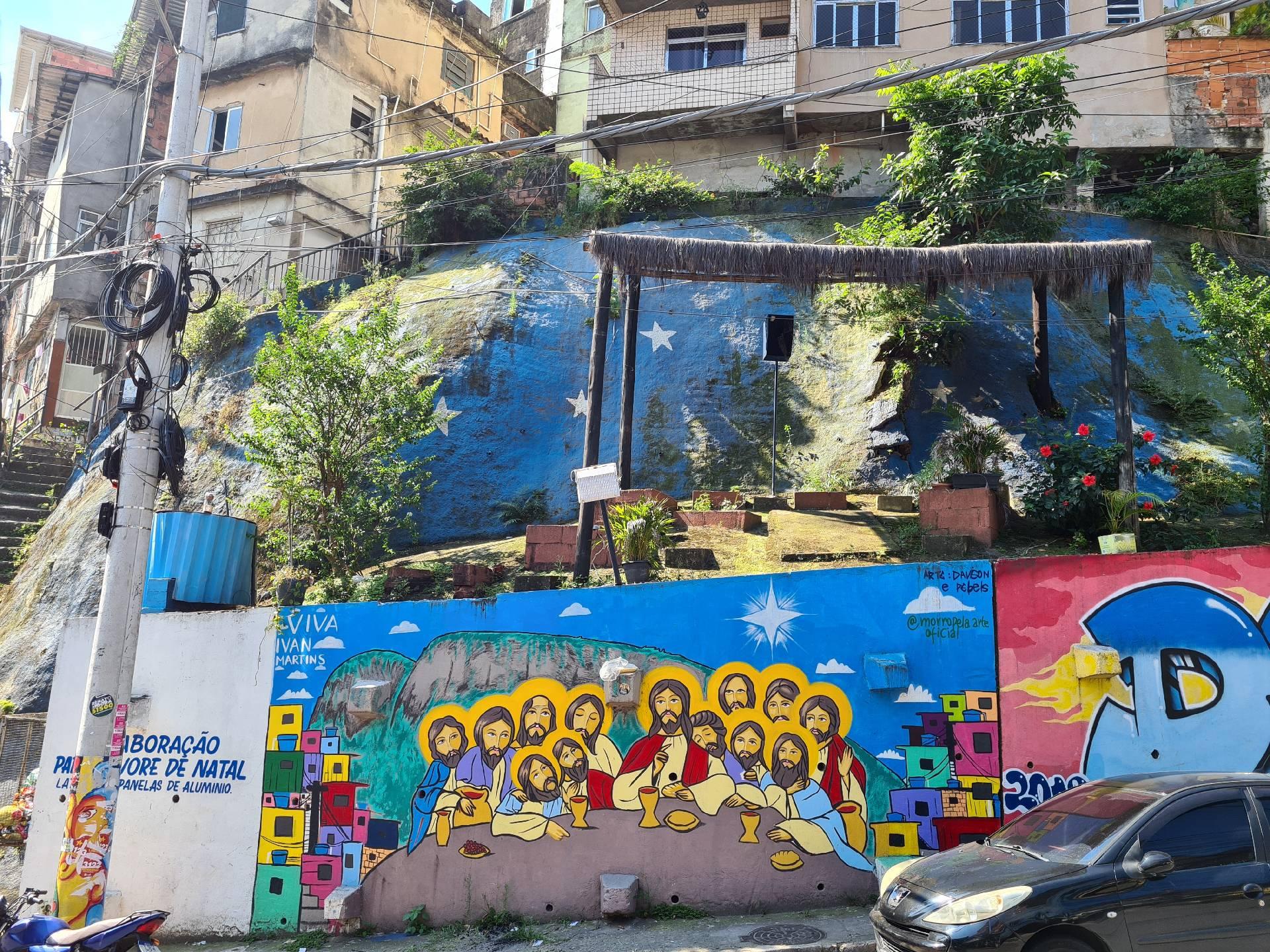 граффити в фавеле Росинья