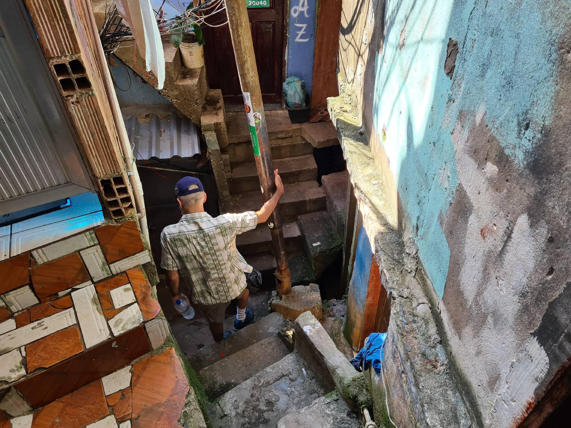 проходы между домами в фавеле Росинья