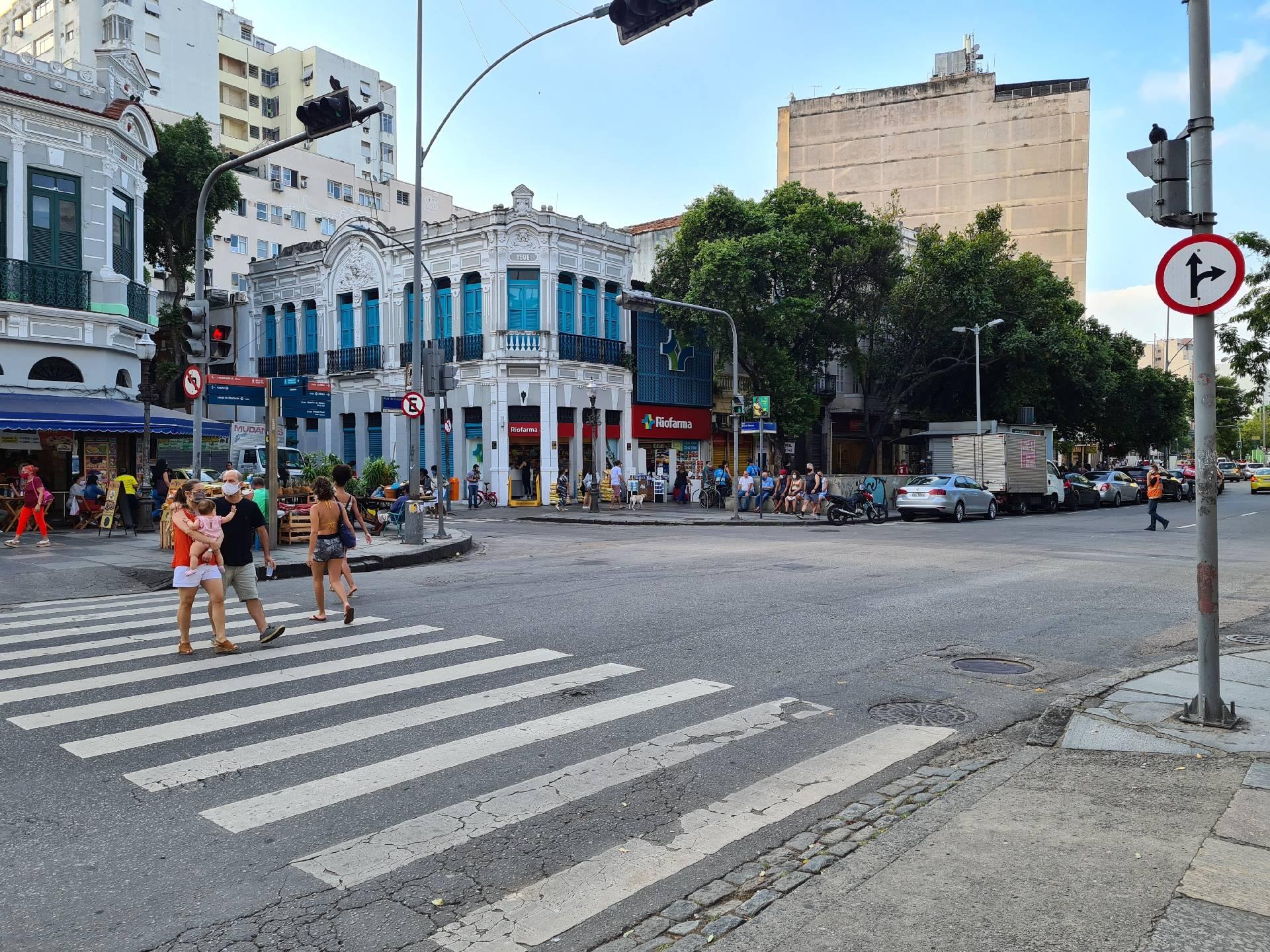 перекресток в Рио