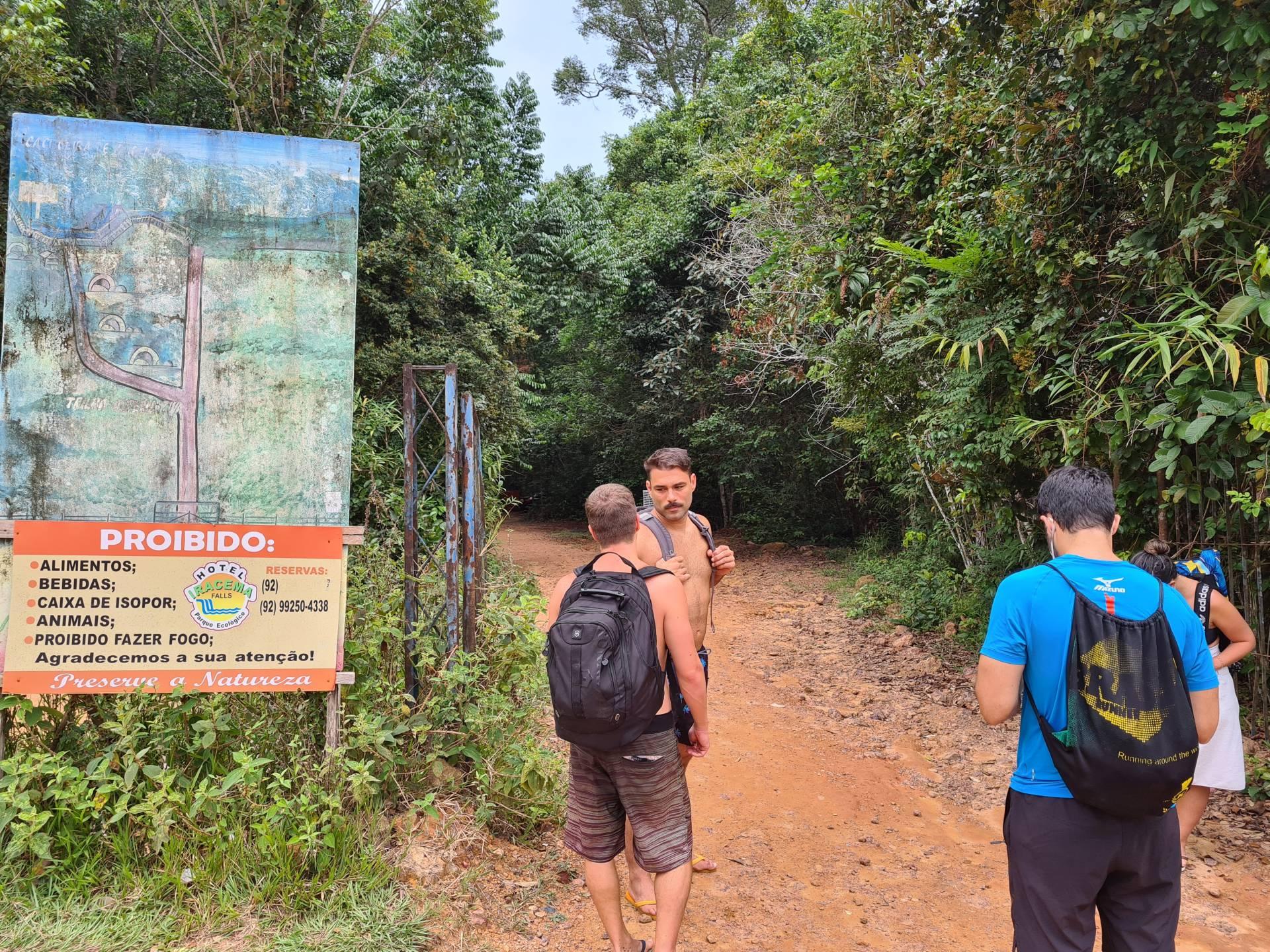 группа туристов в Бразилии