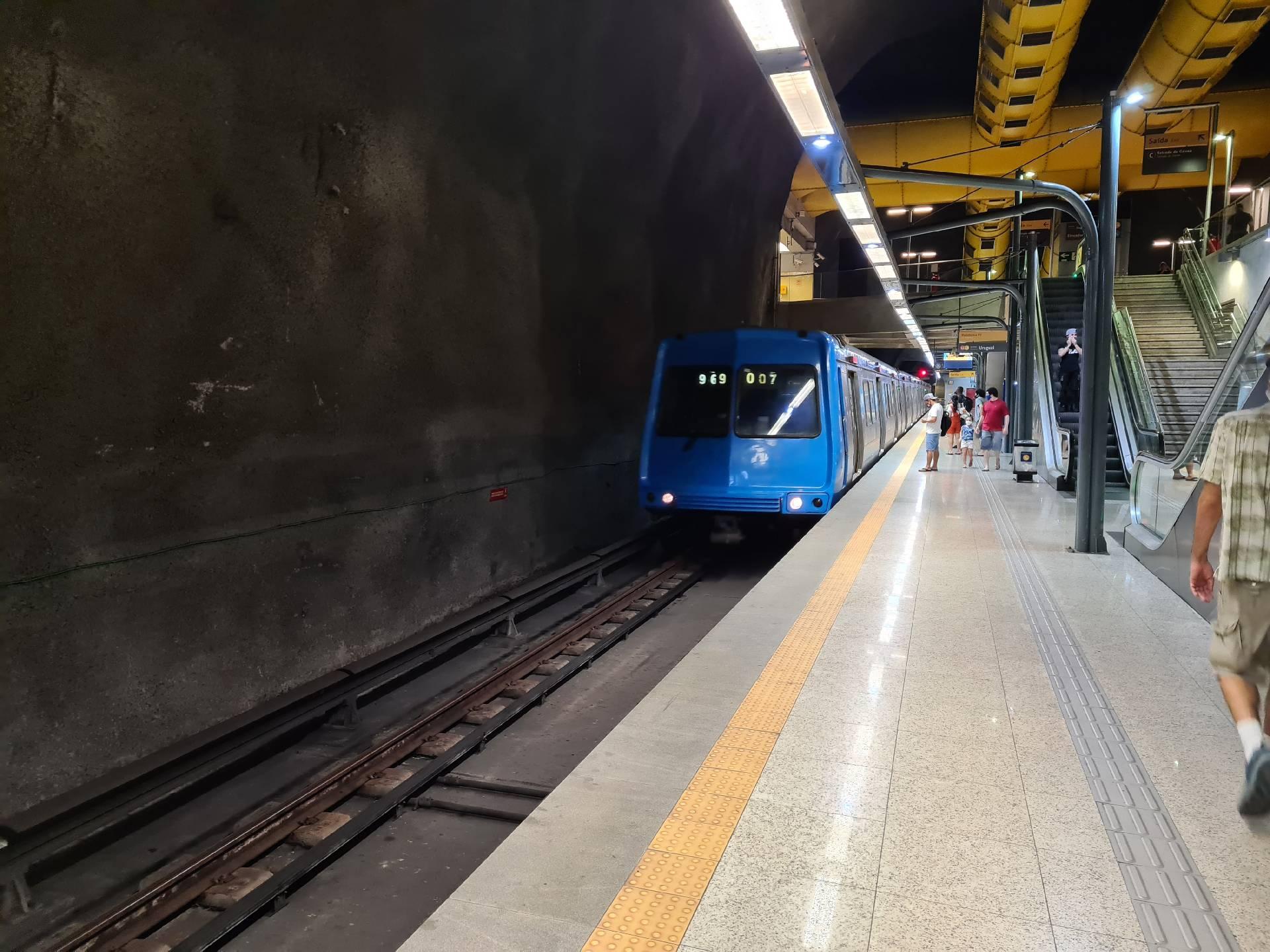 в метро Рио-де-Жанейро