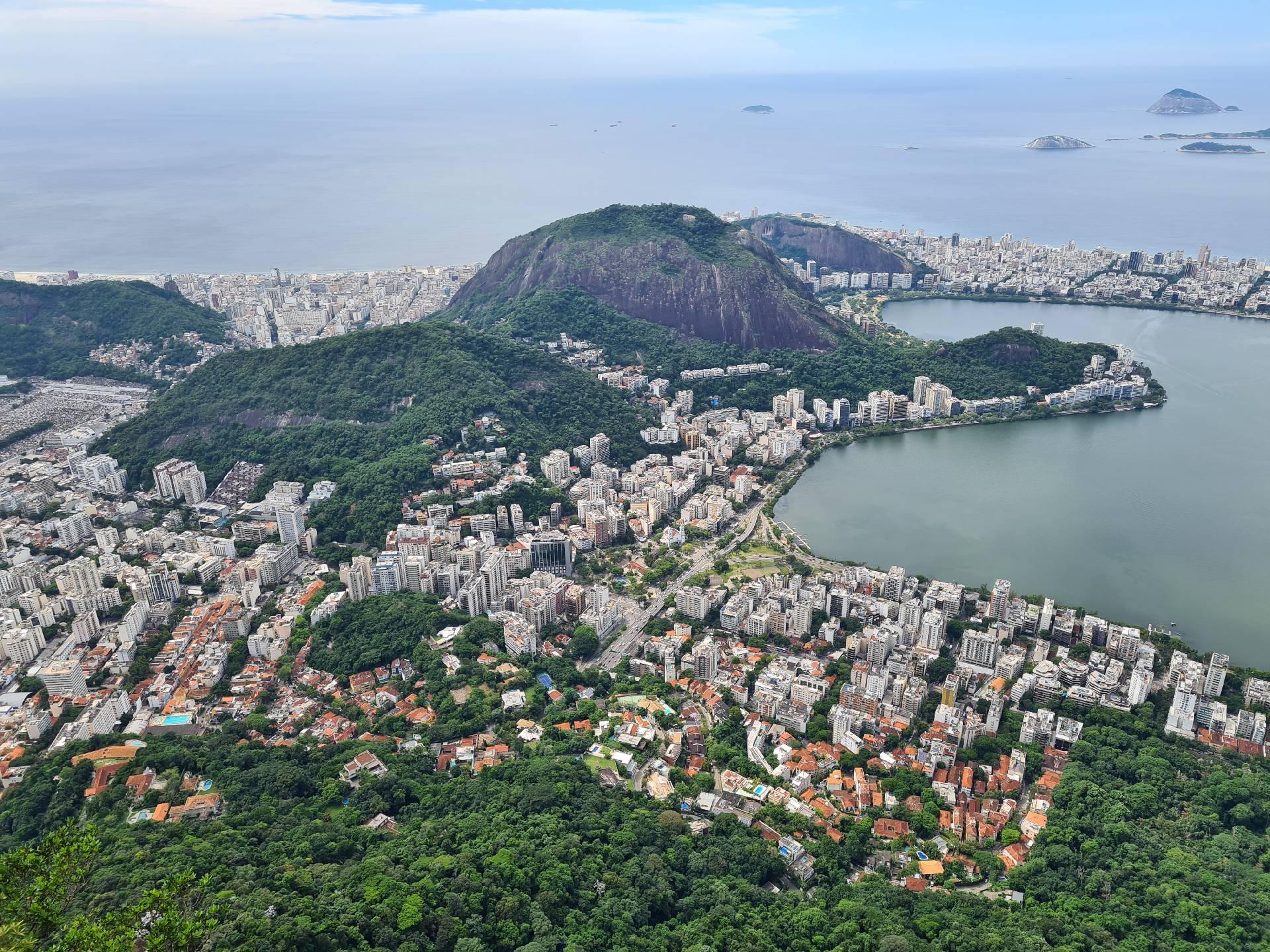 вид на Рио-де-Жанейро с горы Корковадо